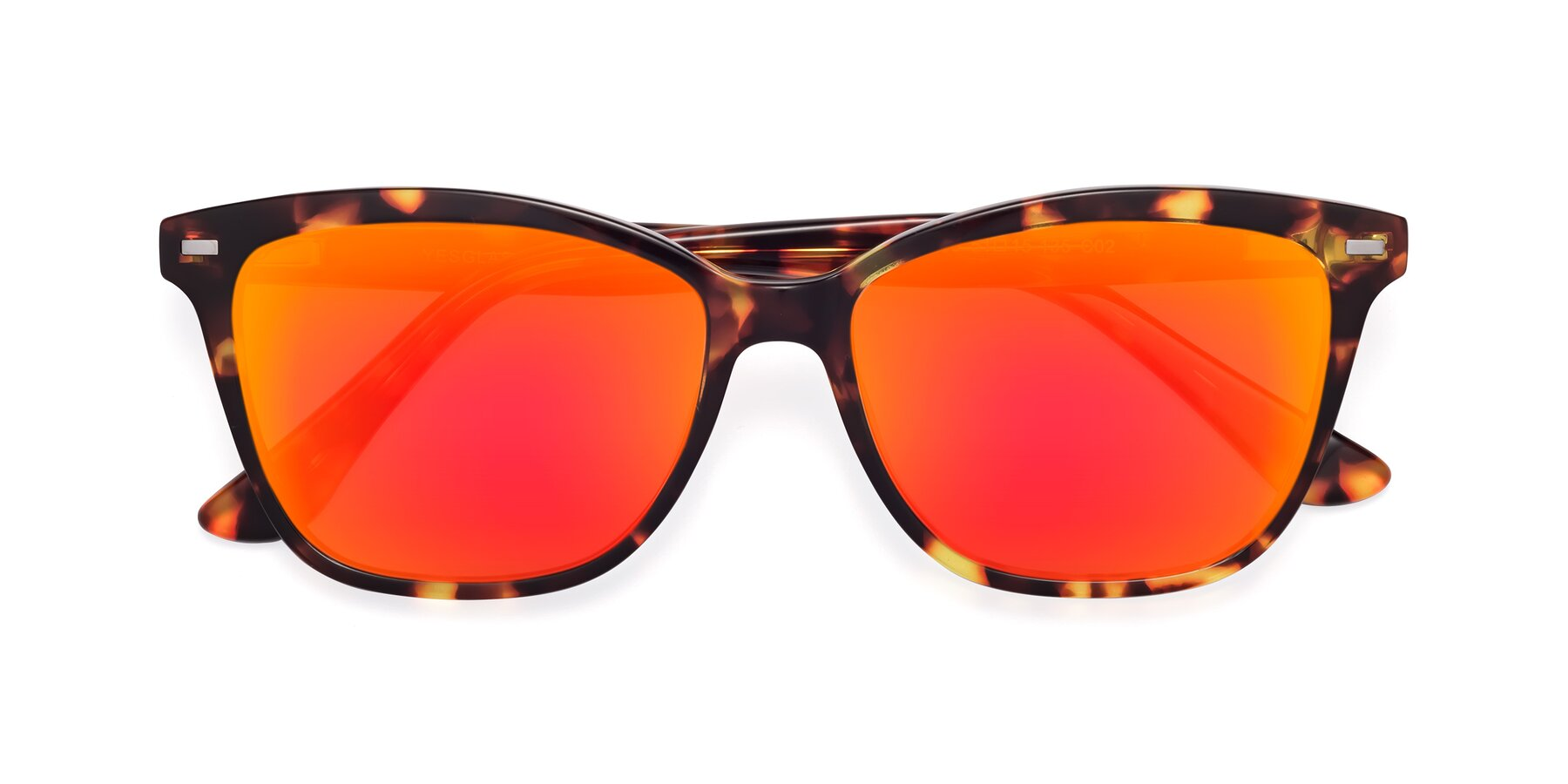 Folded Front of 17485 in Tortoise with Red Gold Mirrored Lenses
