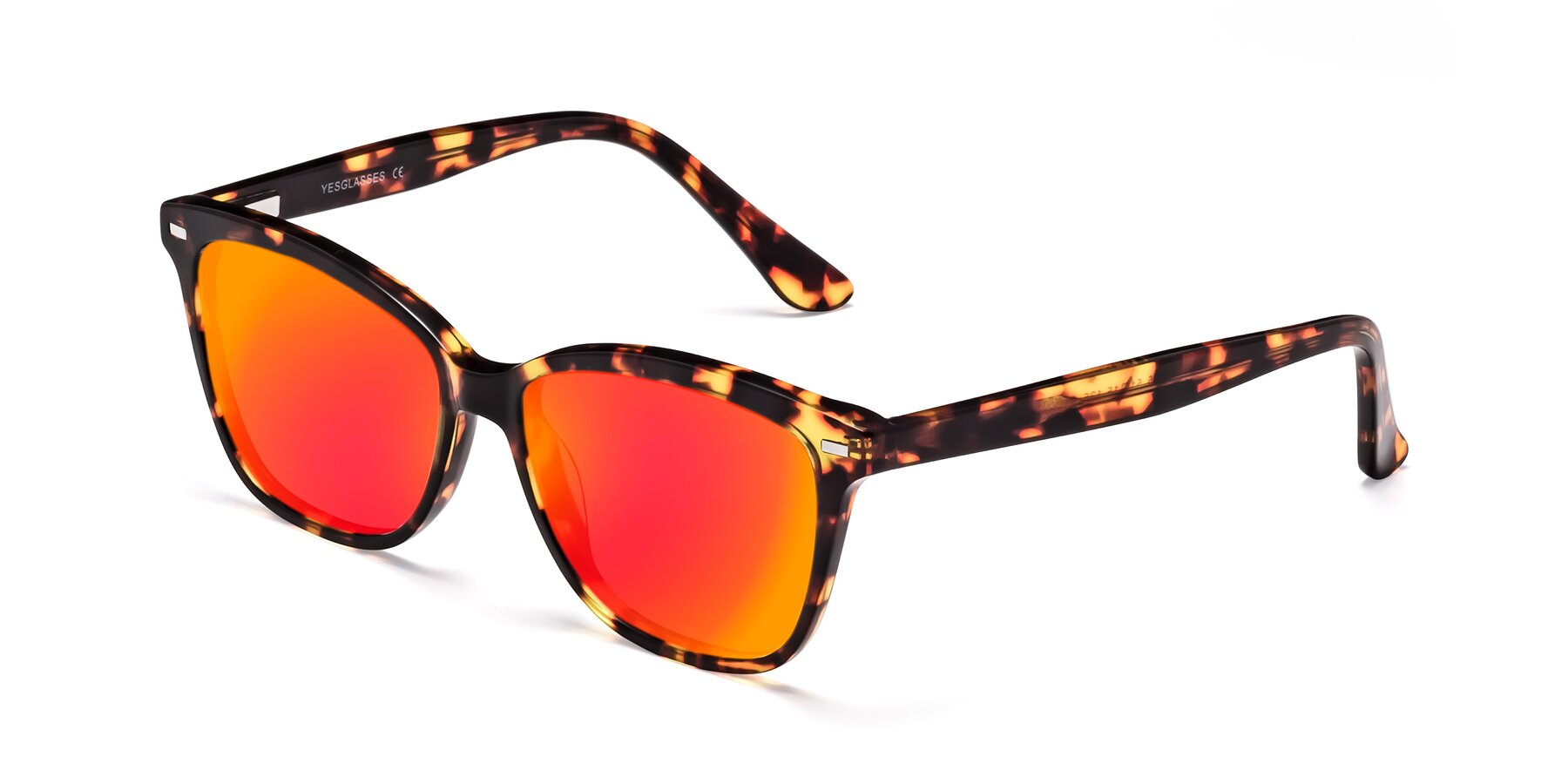Angle of 17485 in Tortoise with Red Gold Mirrored Lenses