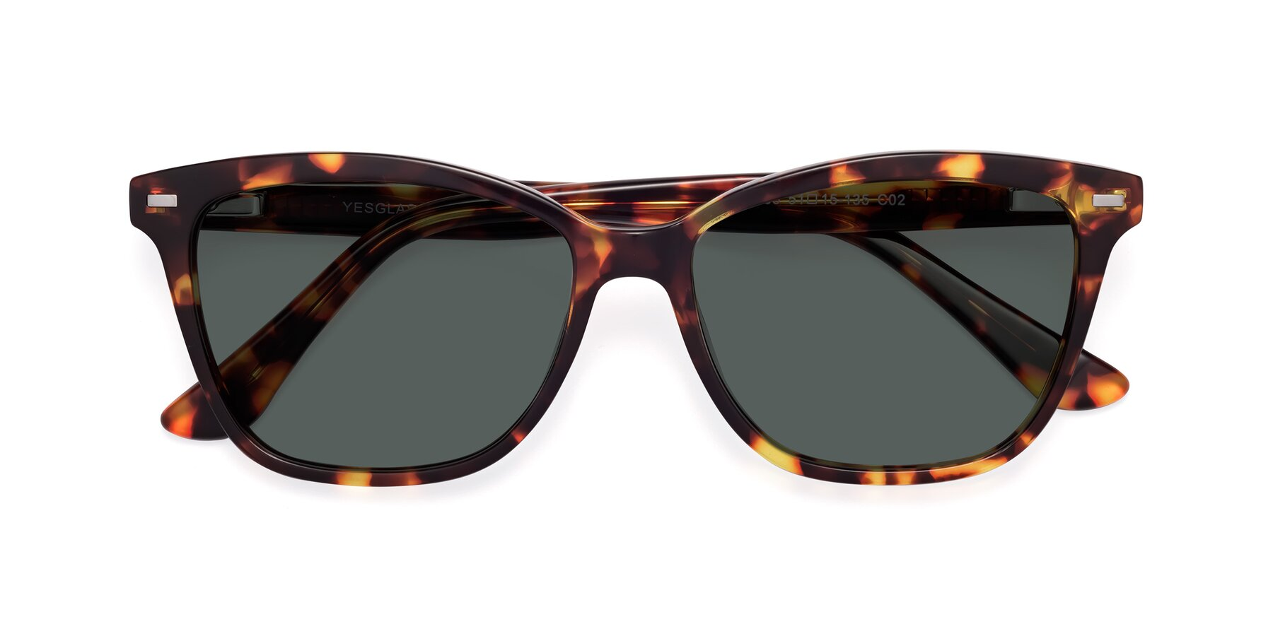 Folded Front of 17485 in Tortoise with Gray Polarized Lenses
