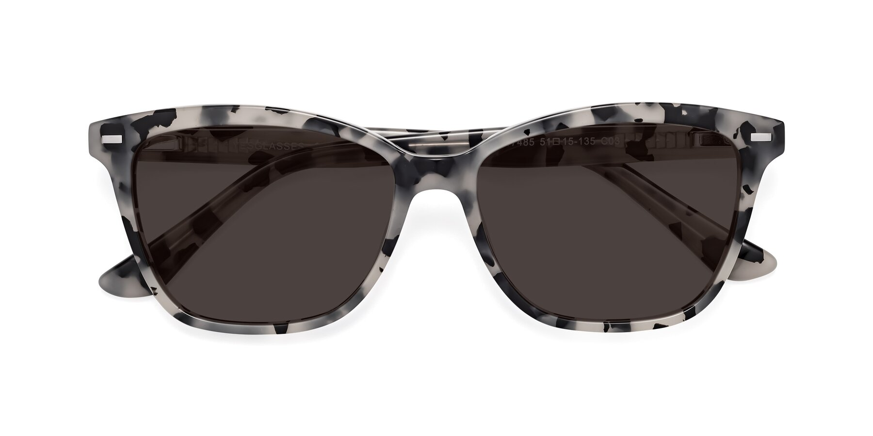 Folded Front of 17485 in Honey Tortoise with Gray Tinted Lenses