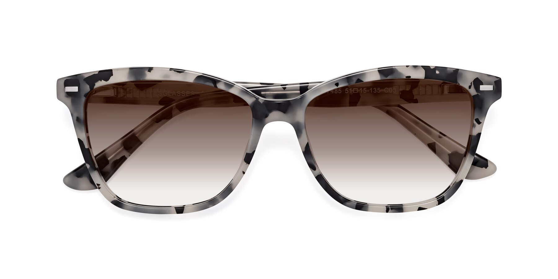 Folded Front of 17485 in Honey Tortoise with Brown Gradient Lenses