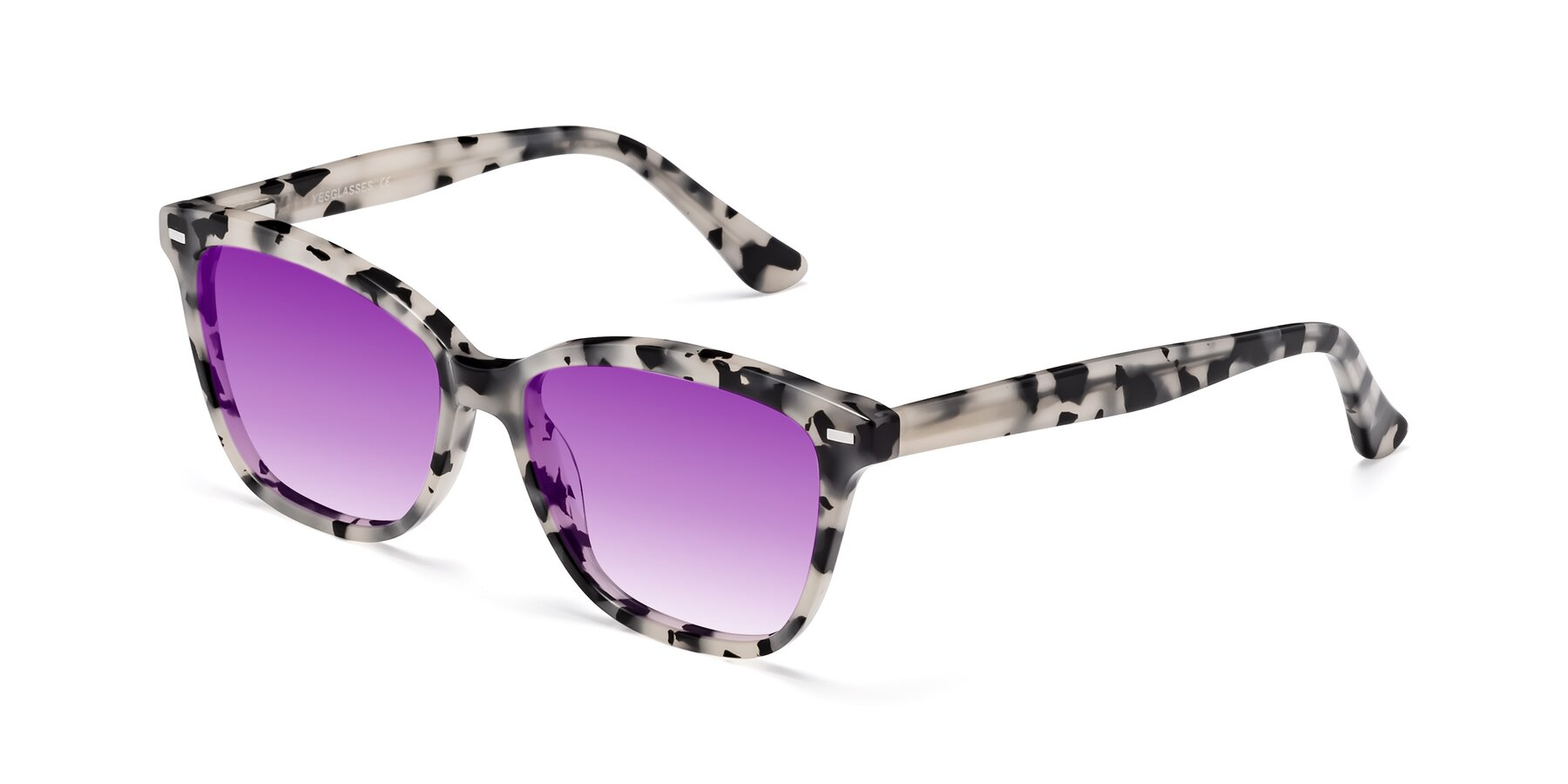 Angle of 17485 in Honey Tortoise with Purple Gradient Lenses