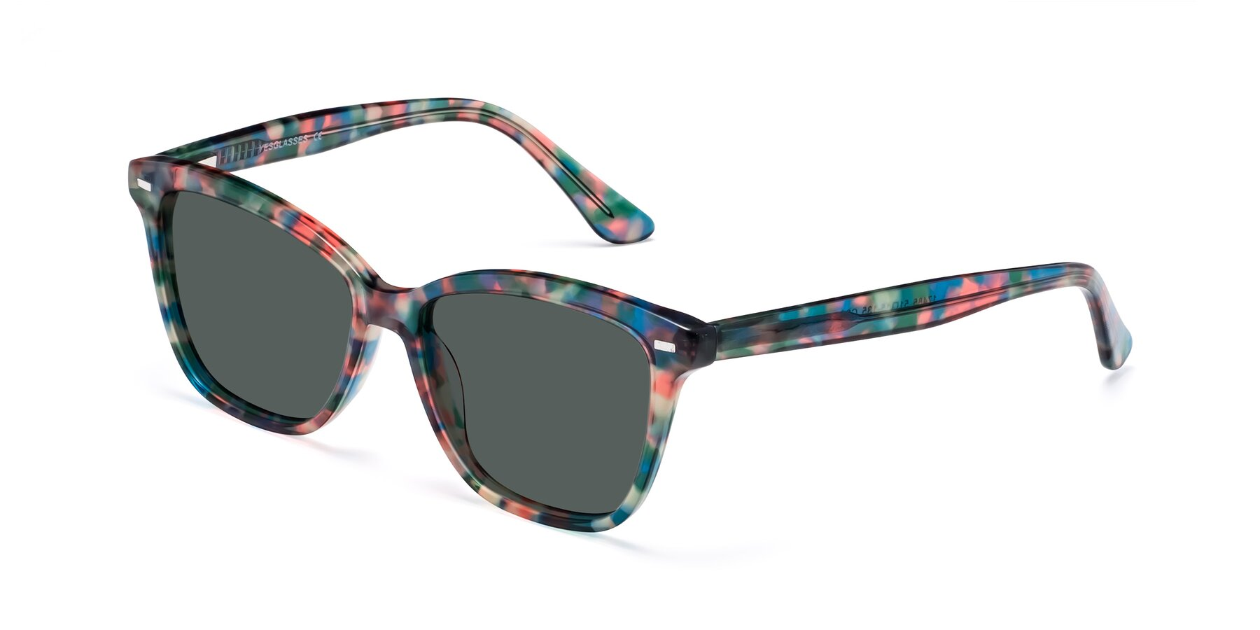 Angle of 17485 in Floral Tortoise with Gray Polarized Lenses
