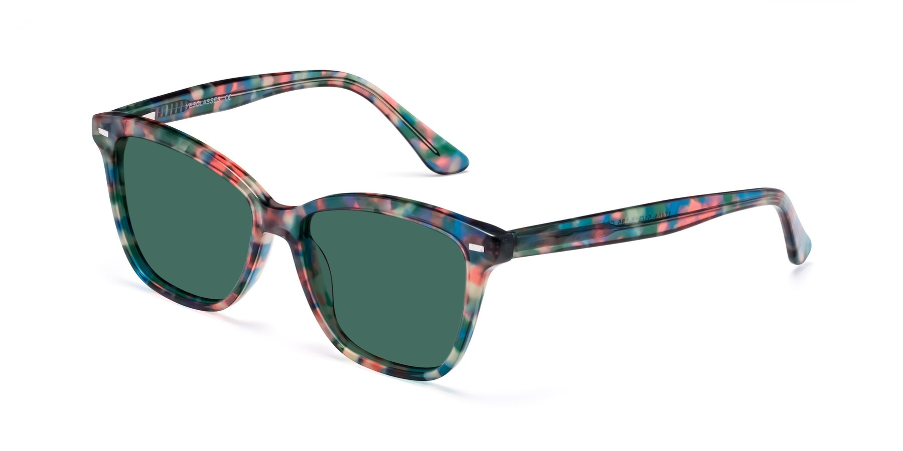 Angle of 17485 in Floral Tortoise with Green Polarized Lenses