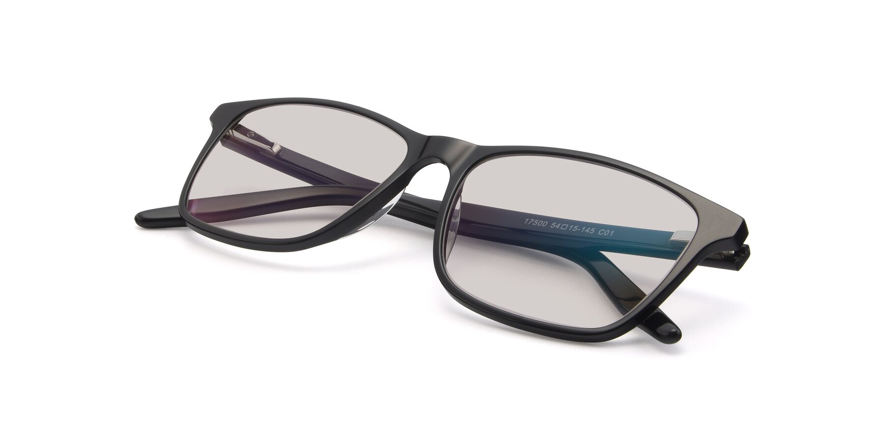 View of 17500 in Black with Light Brown Tinted Lenses
