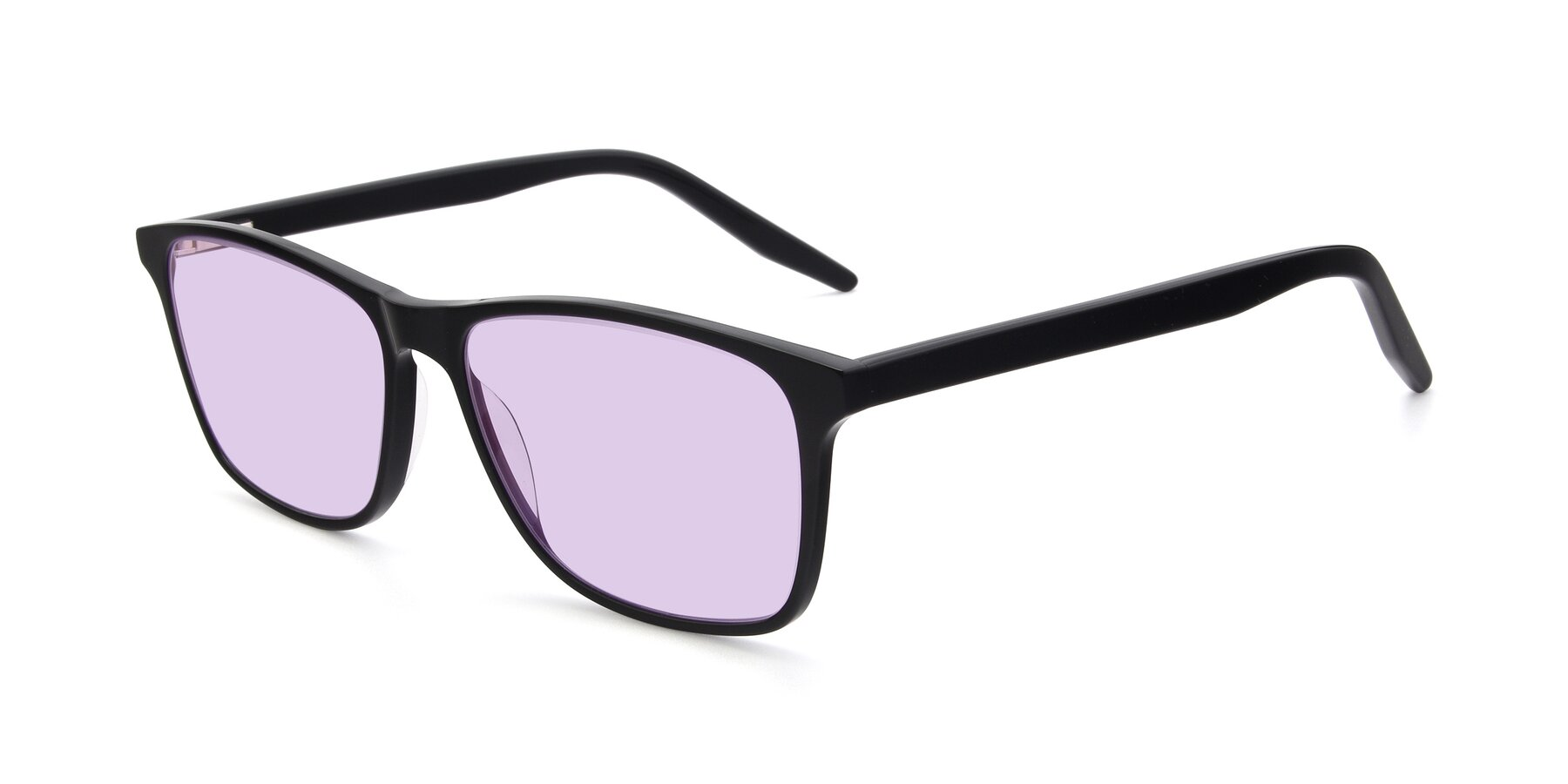 Angle of 17500 in Black with Light Purple Tinted Lenses