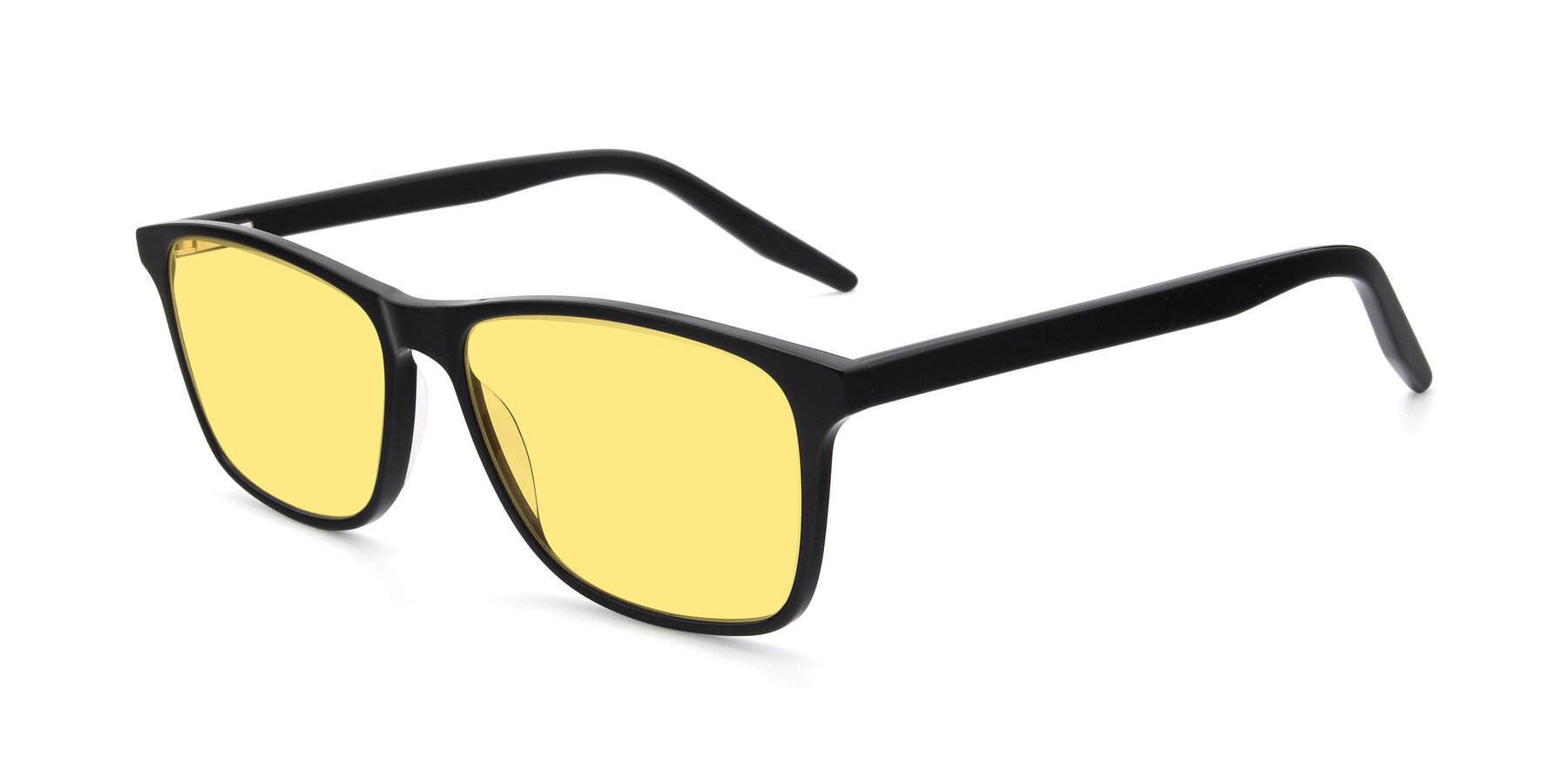 Angle of 17500 in Black with Medium Yellow Tinted Lenses