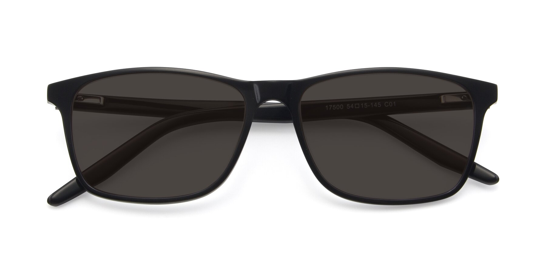 Folded Front of 17500 in Black with Gray Tinted Lenses