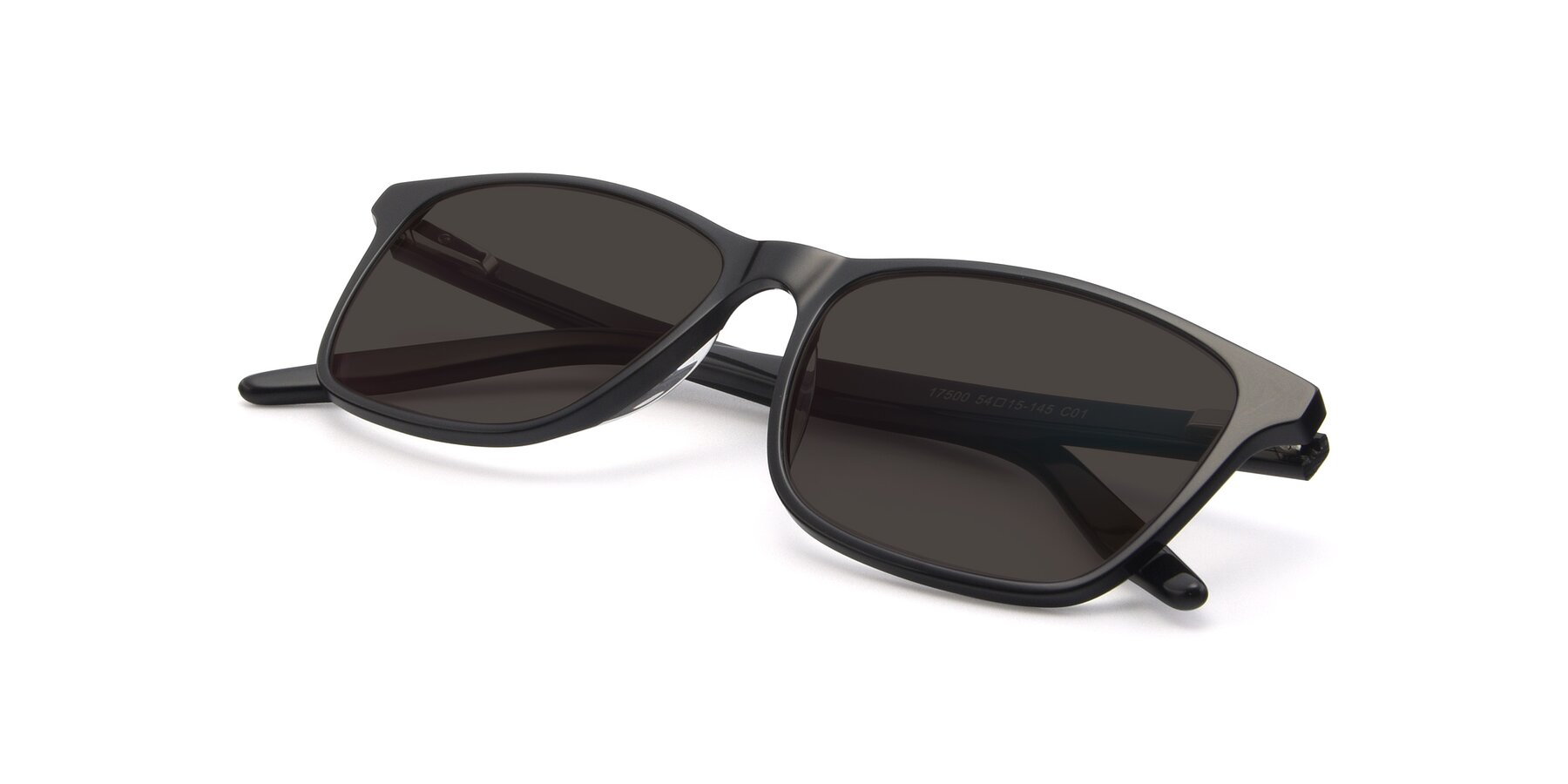 View of 17500 in Black with Gray Tinted Lenses