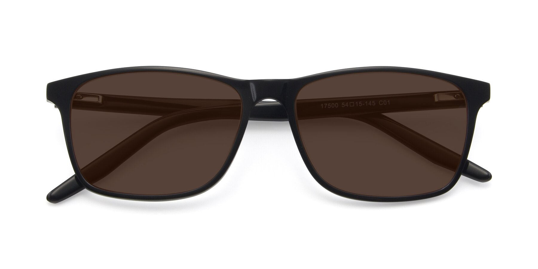 Folded Front of 17500 in Black with Brown Tinted Lenses