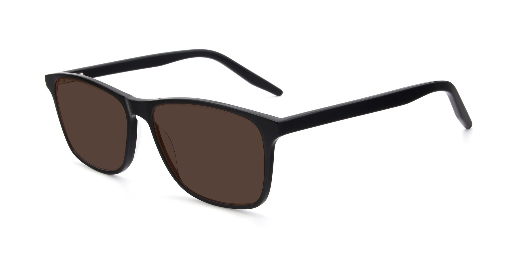 Angle of 17500 in Black with Brown Tinted Lenses