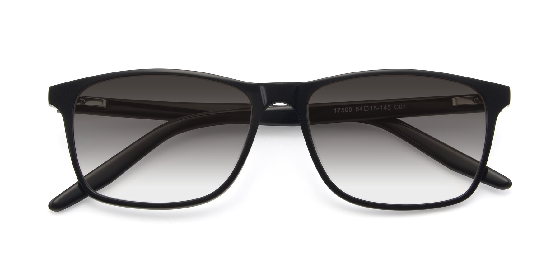 Folded Front of 17500 in Black with Gray Gradient Lenses