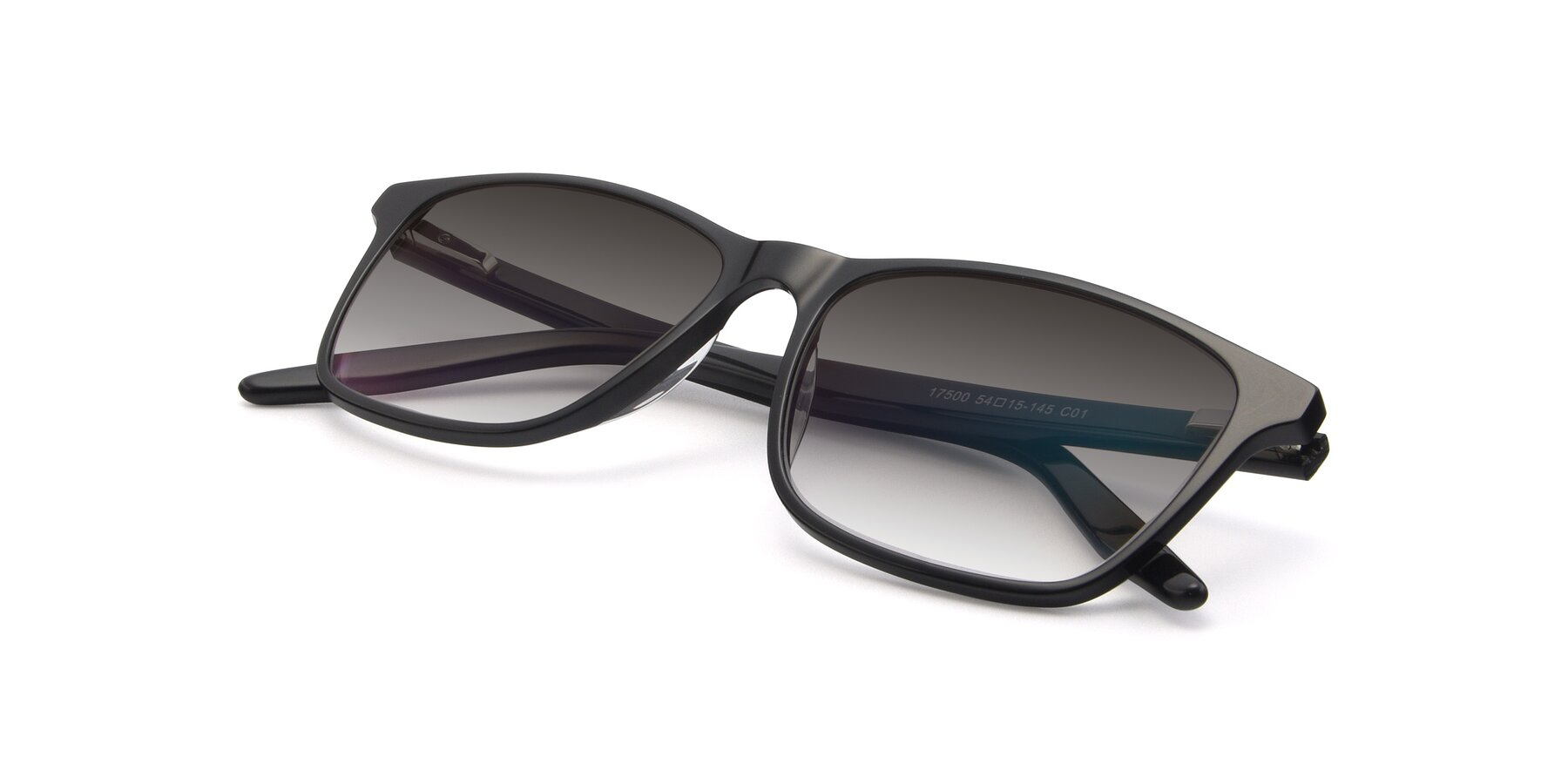 View of 17500 in Black with Gray Gradient Lenses