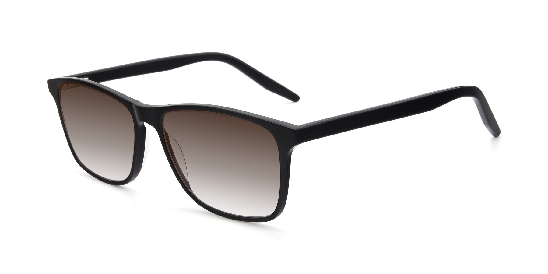 Angle of 17500 in Black with Brown Gradient Lenses