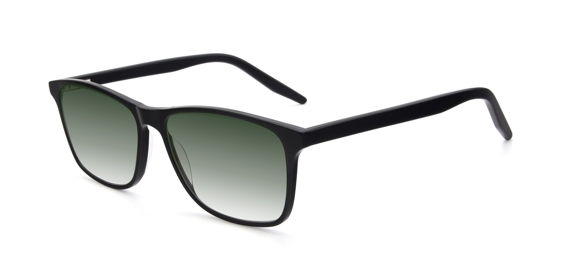 Angle of 17500 in Black with Green Gradient Lenses