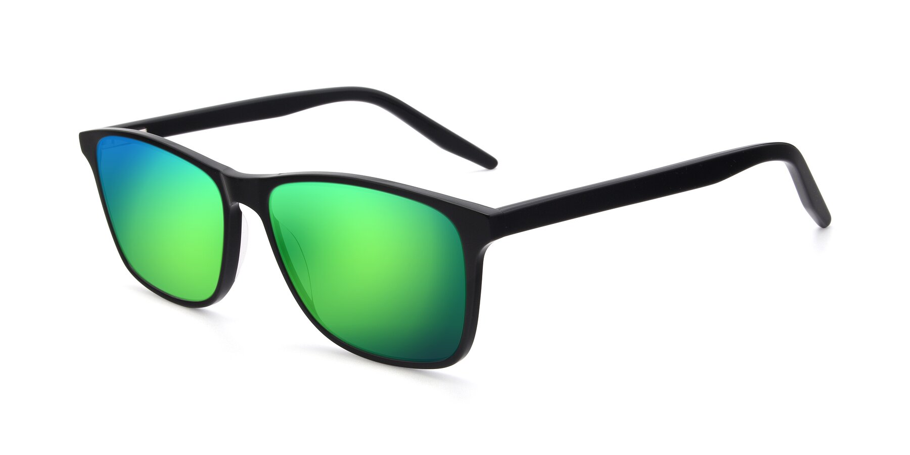 Angle of 17500 in Black with Green Mirrored Lenses