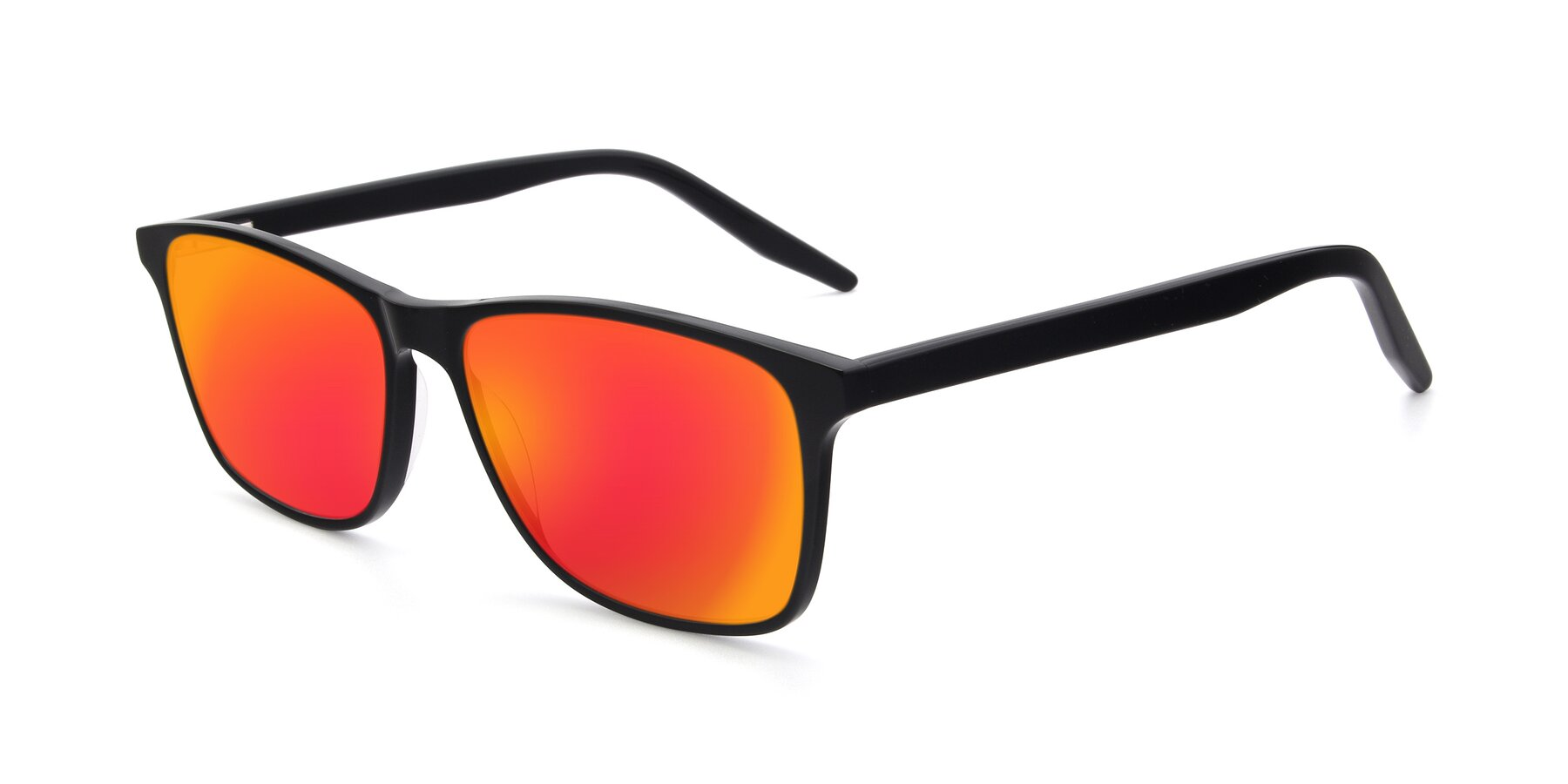 Angle of 17500 in Black with Red Gold Mirrored Lenses