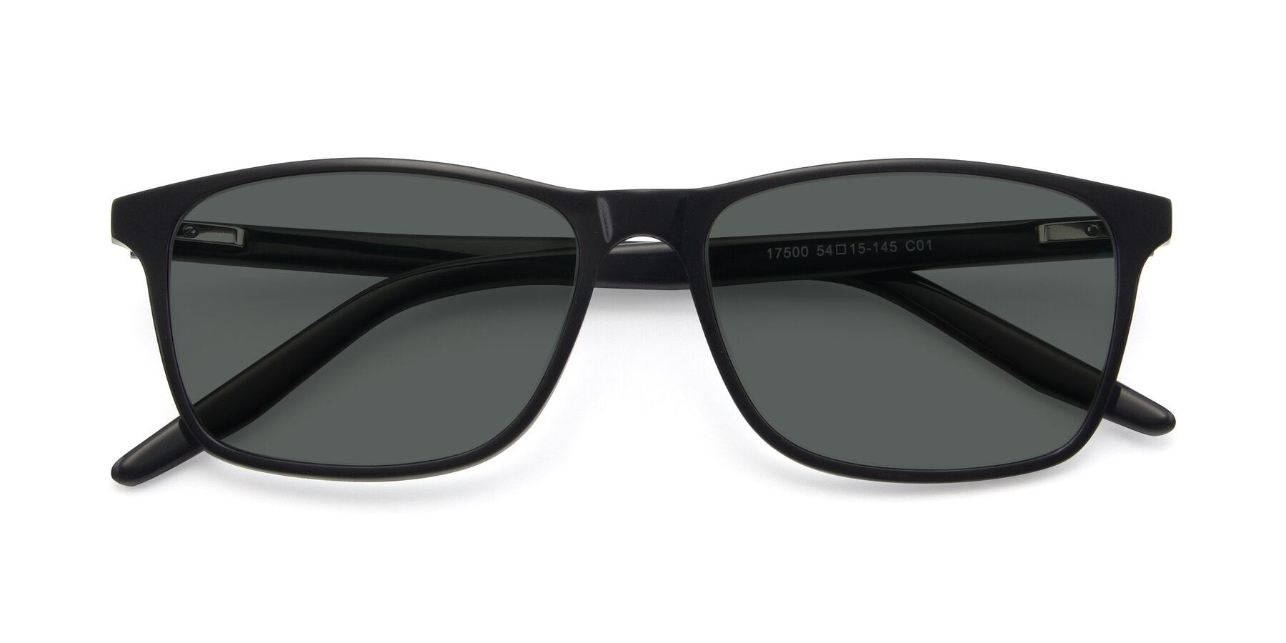 Folded Front of 17500 in Black with Gray Polarized Lenses