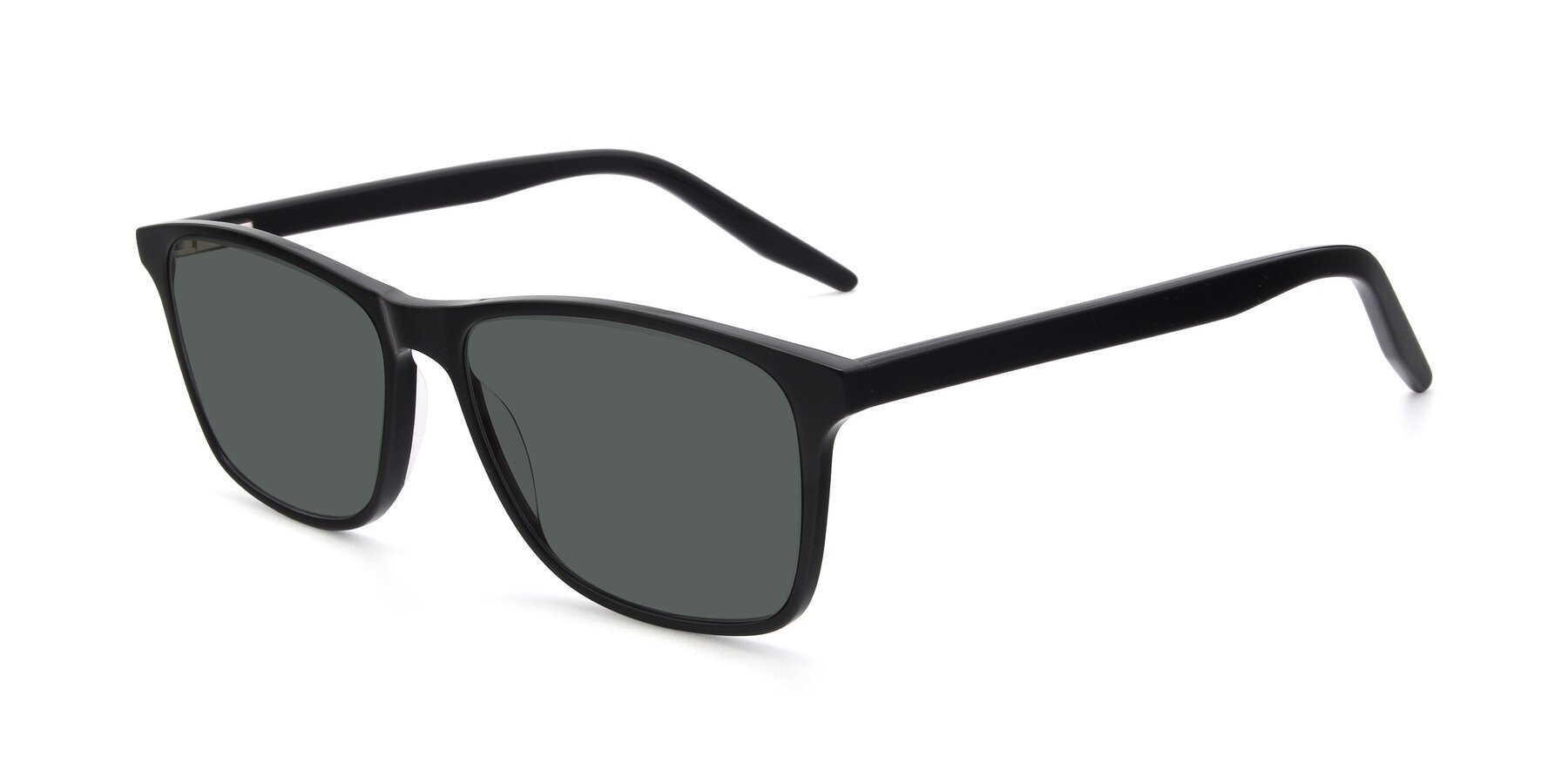 Angle of 17500 in Black with Gray Polarized Lenses