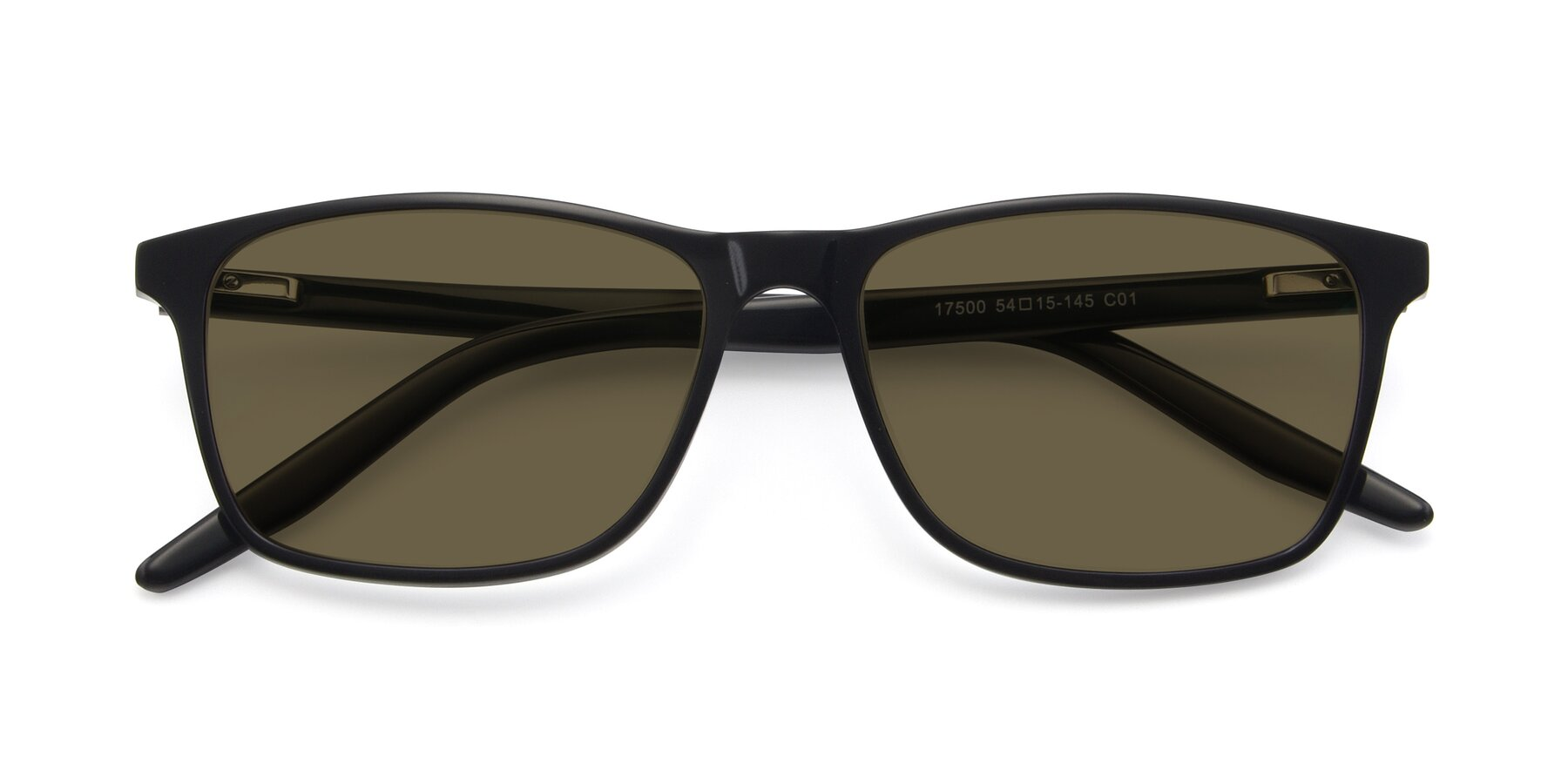 Folded Front of 17500 in Black with Brown Polarized Lenses
