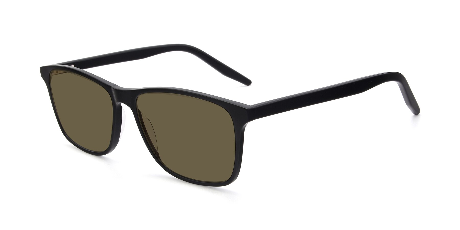 Angle of 17500 in Black with Brown Polarized Lenses