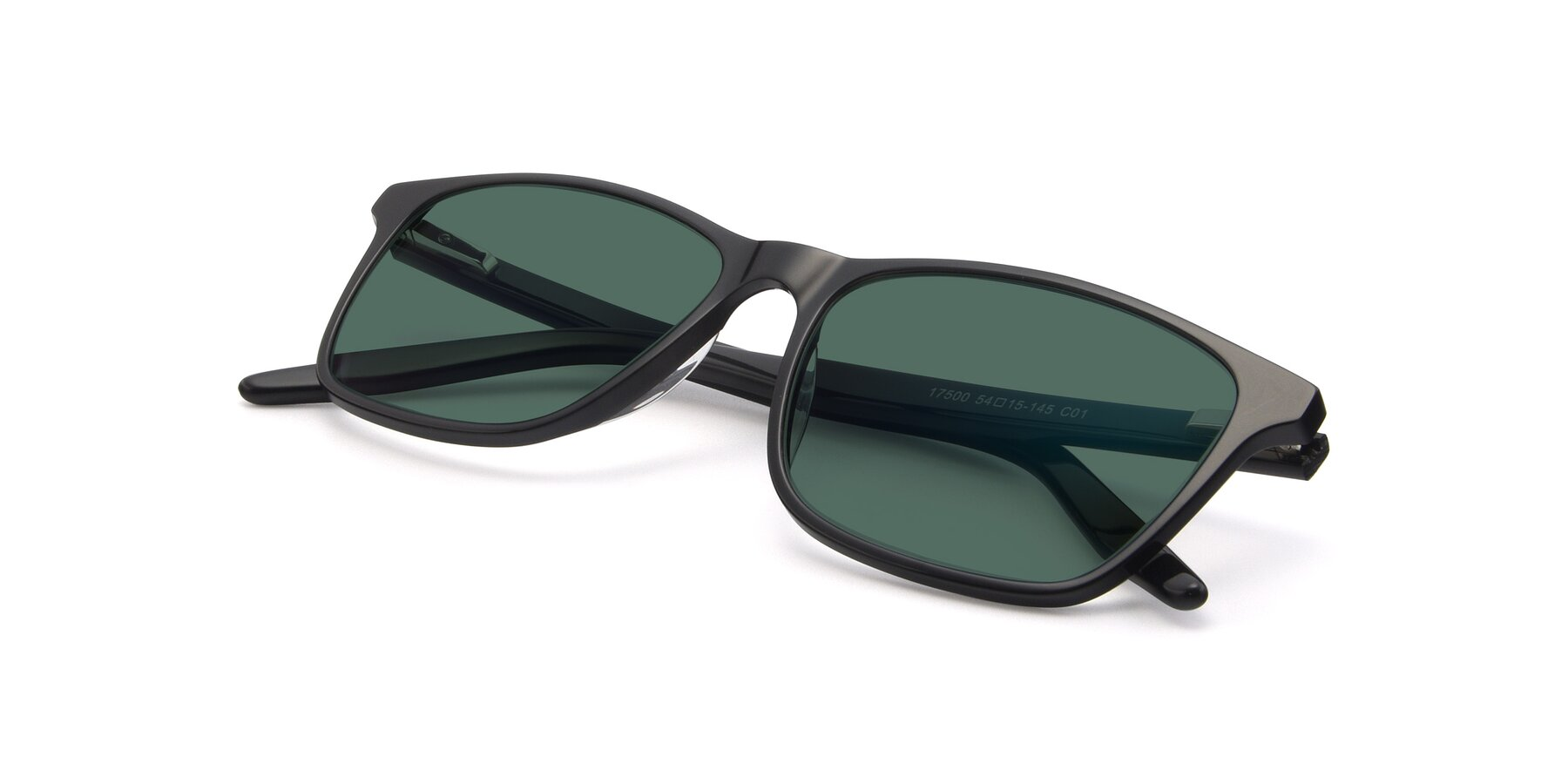 View of 17500 in Black with Green Polarized Lenses