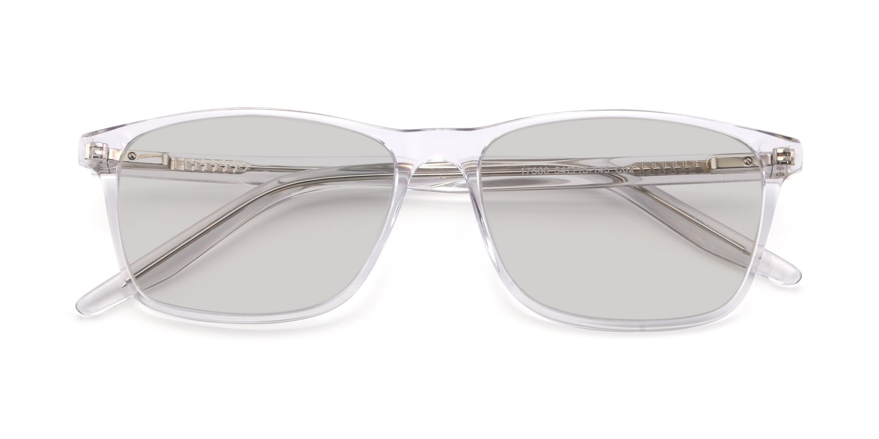 Folded Front of 17500 in Clear with Light Gray Tinted Lenses