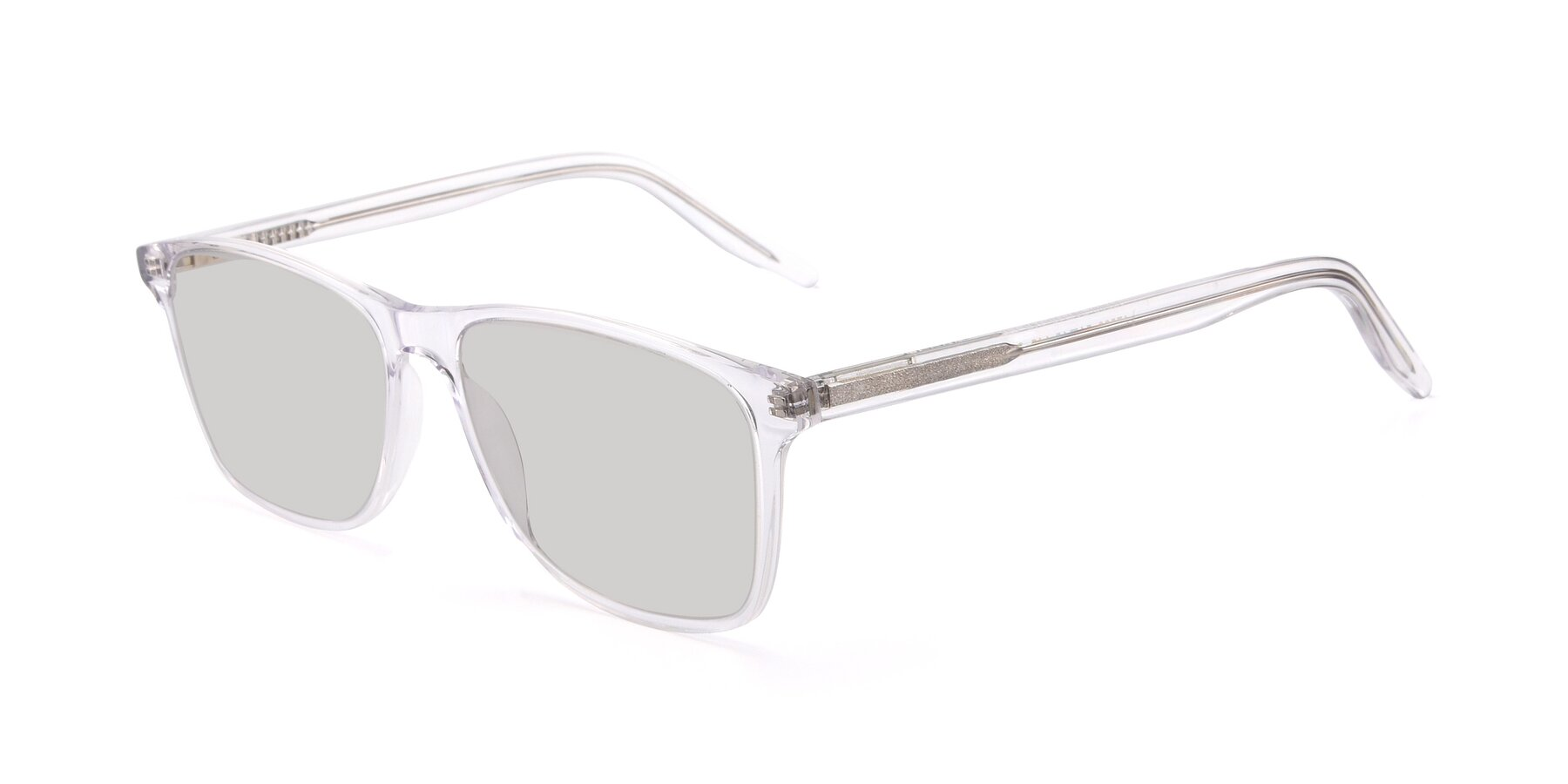 Angle of 17500 in Clear with Light Gray Tinted Lenses