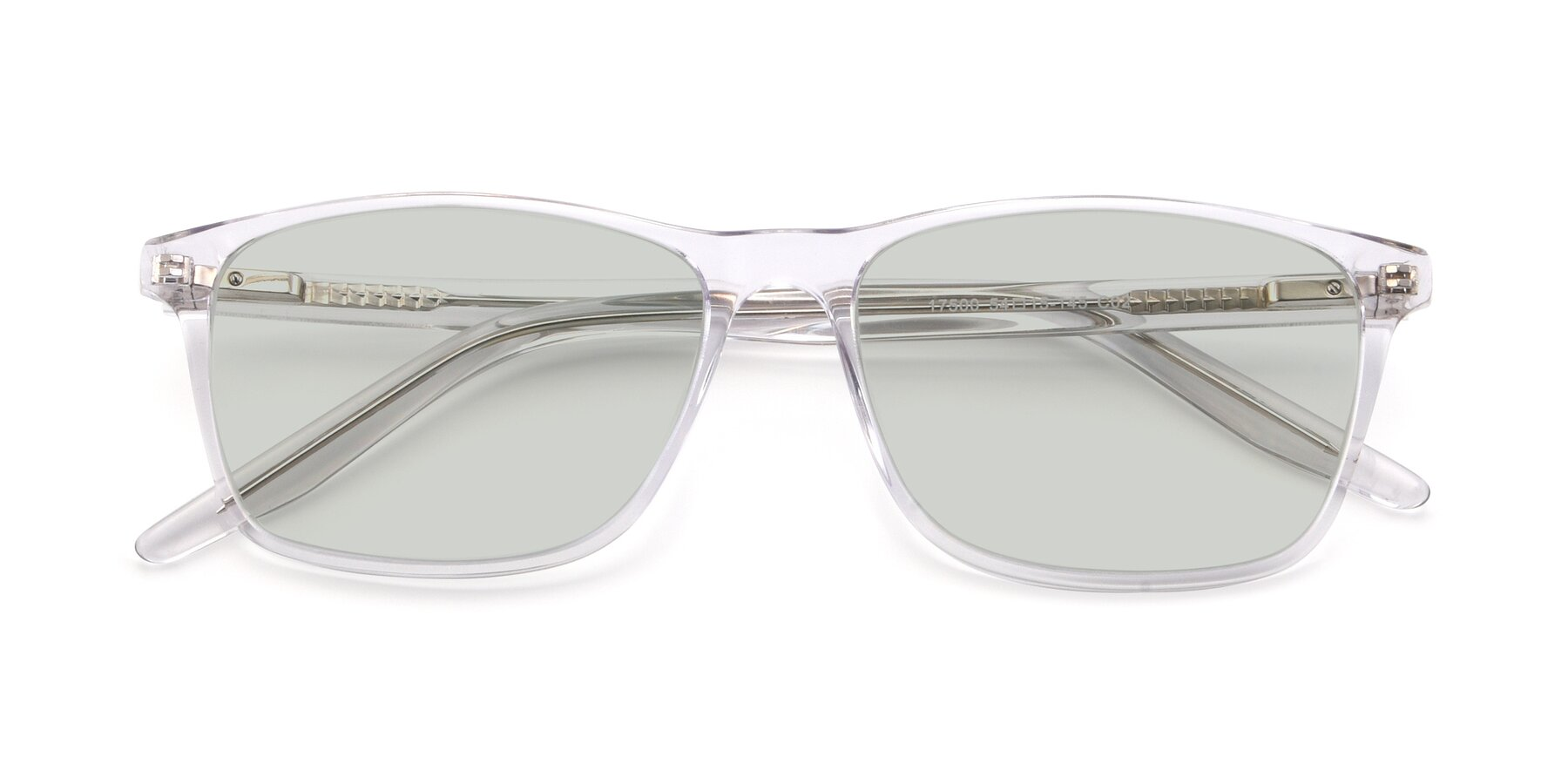 Folded Front of 17500 in Clear with Light Green Tinted Lenses