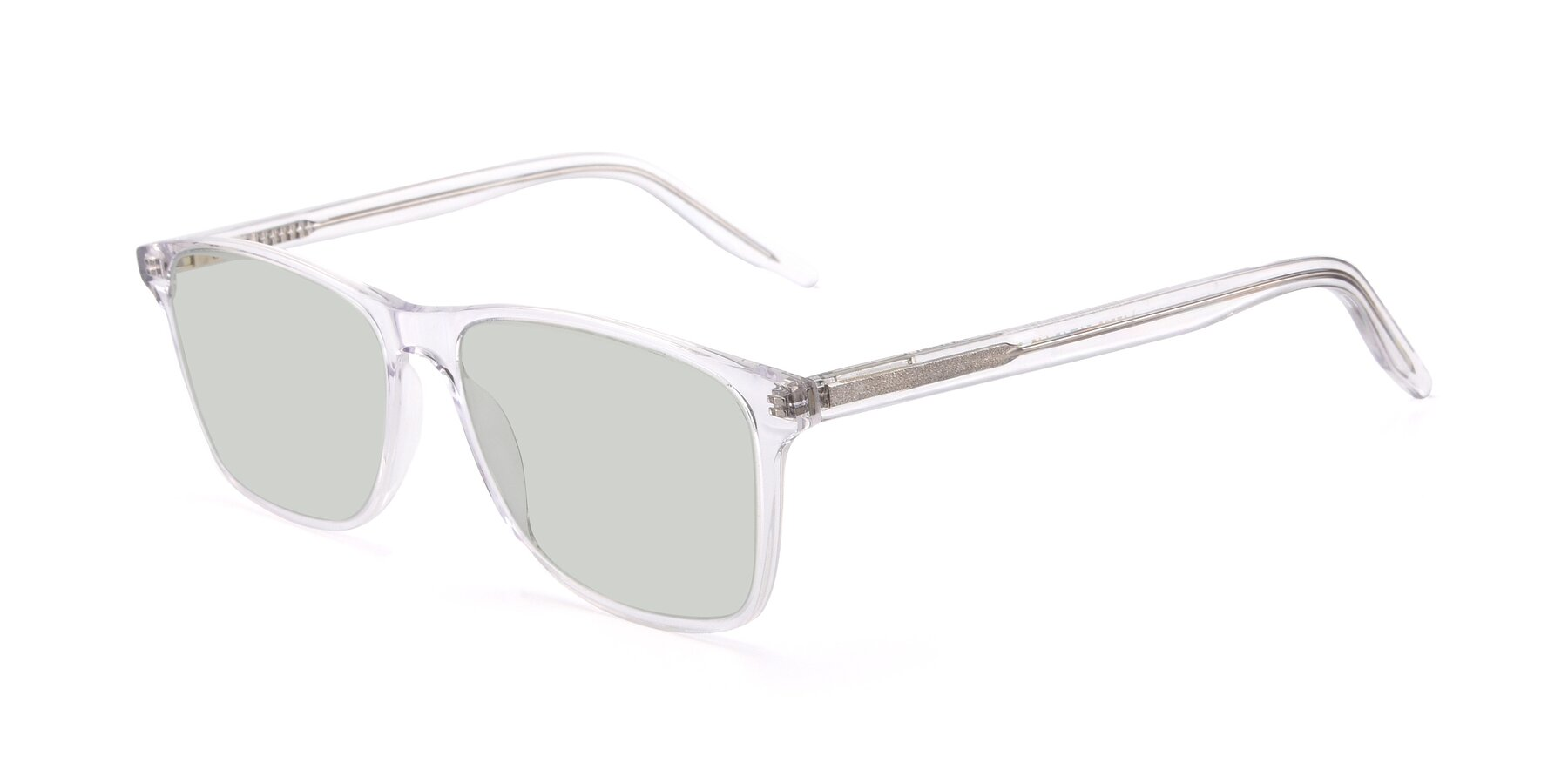Angle of 17500 in Clear with Light Green Tinted Lenses