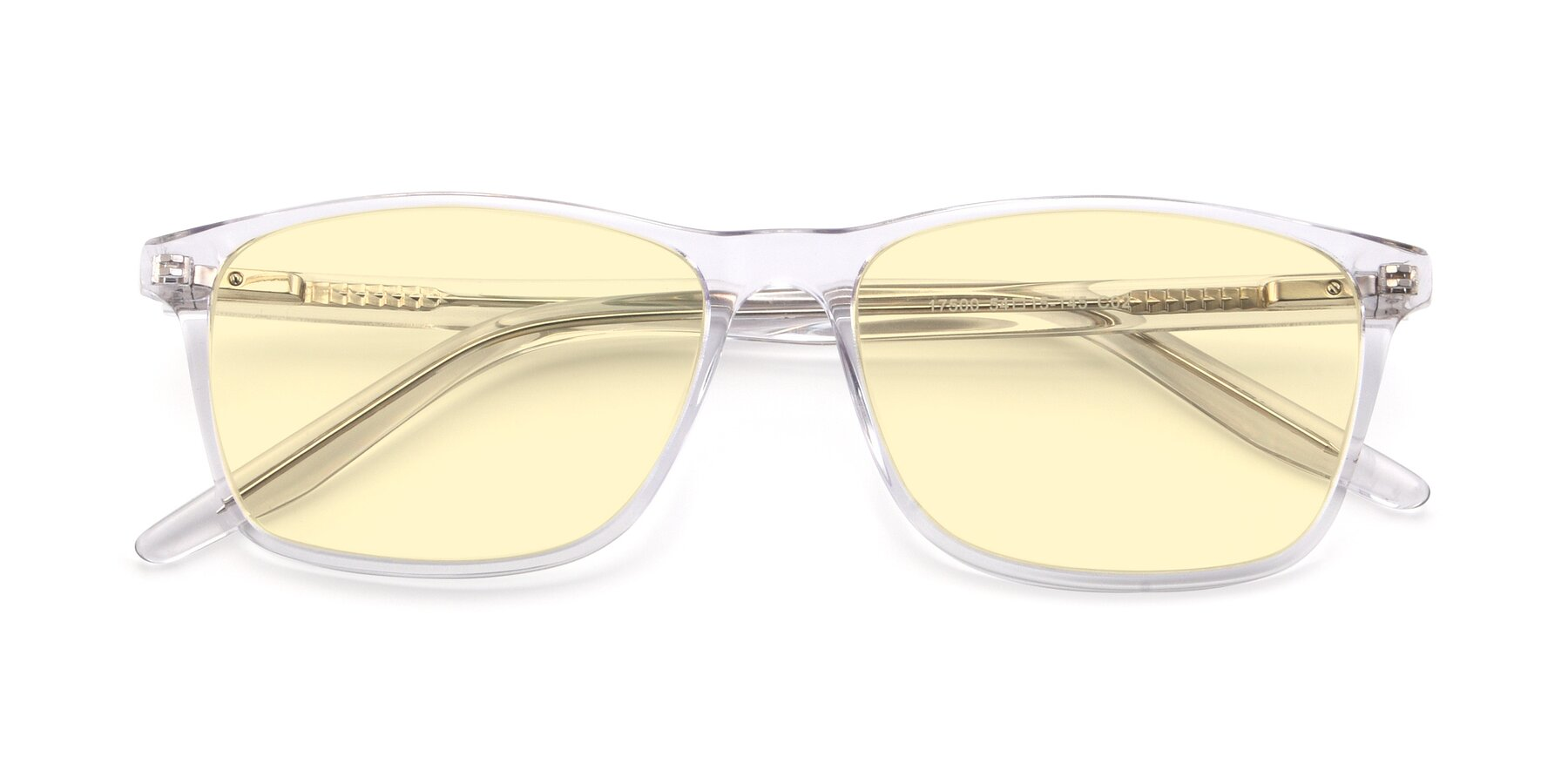 Folded Front of 17500 in Clear with Light Yellow Tinted Lenses