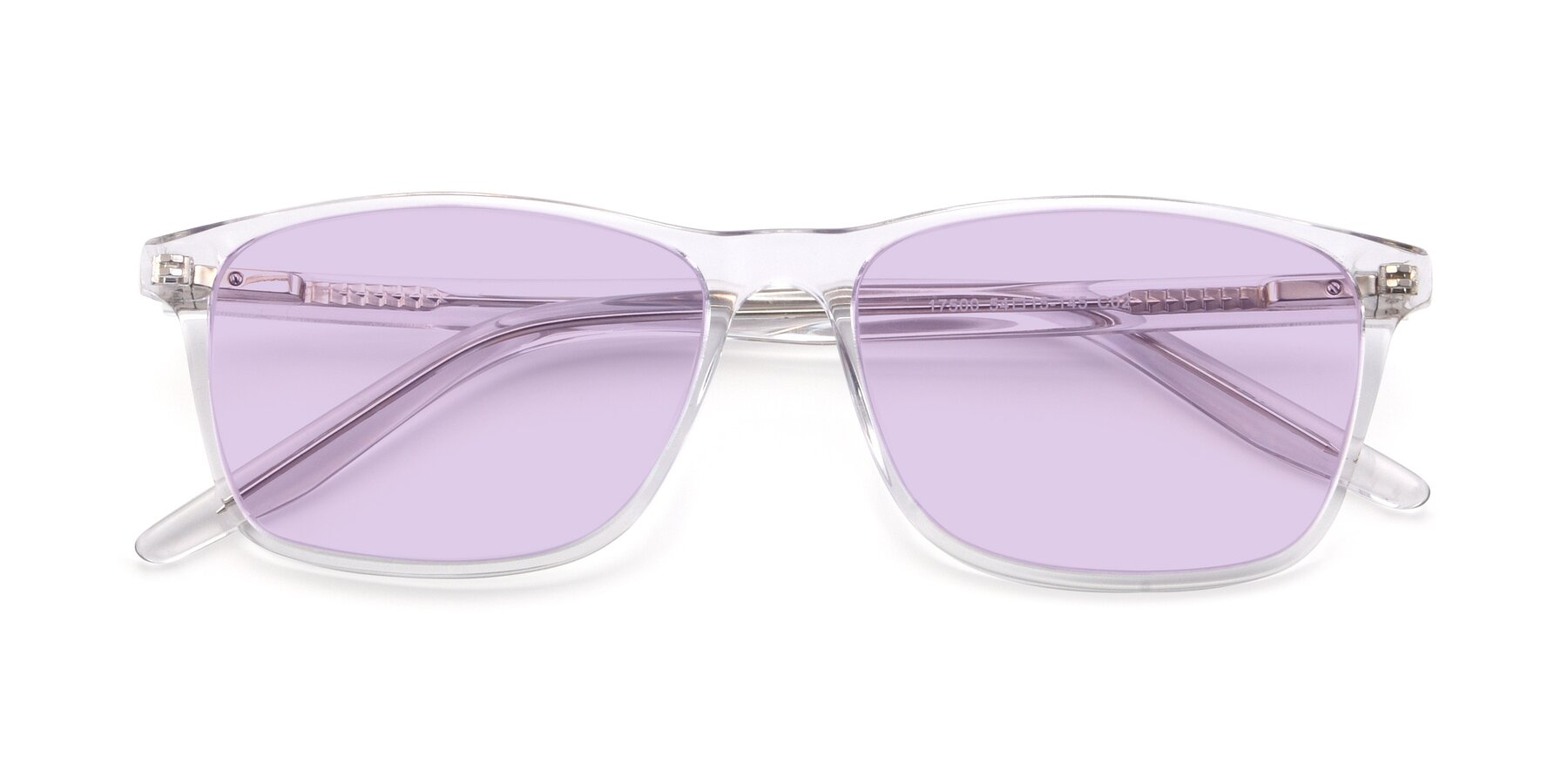 Folded Front of 17500 in Clear with Light Purple Tinted Lenses