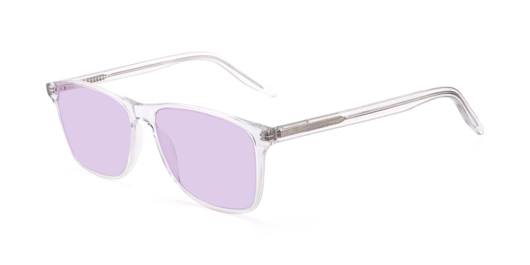 Angle of 17500 in Clear with Light Purple Tinted Lenses