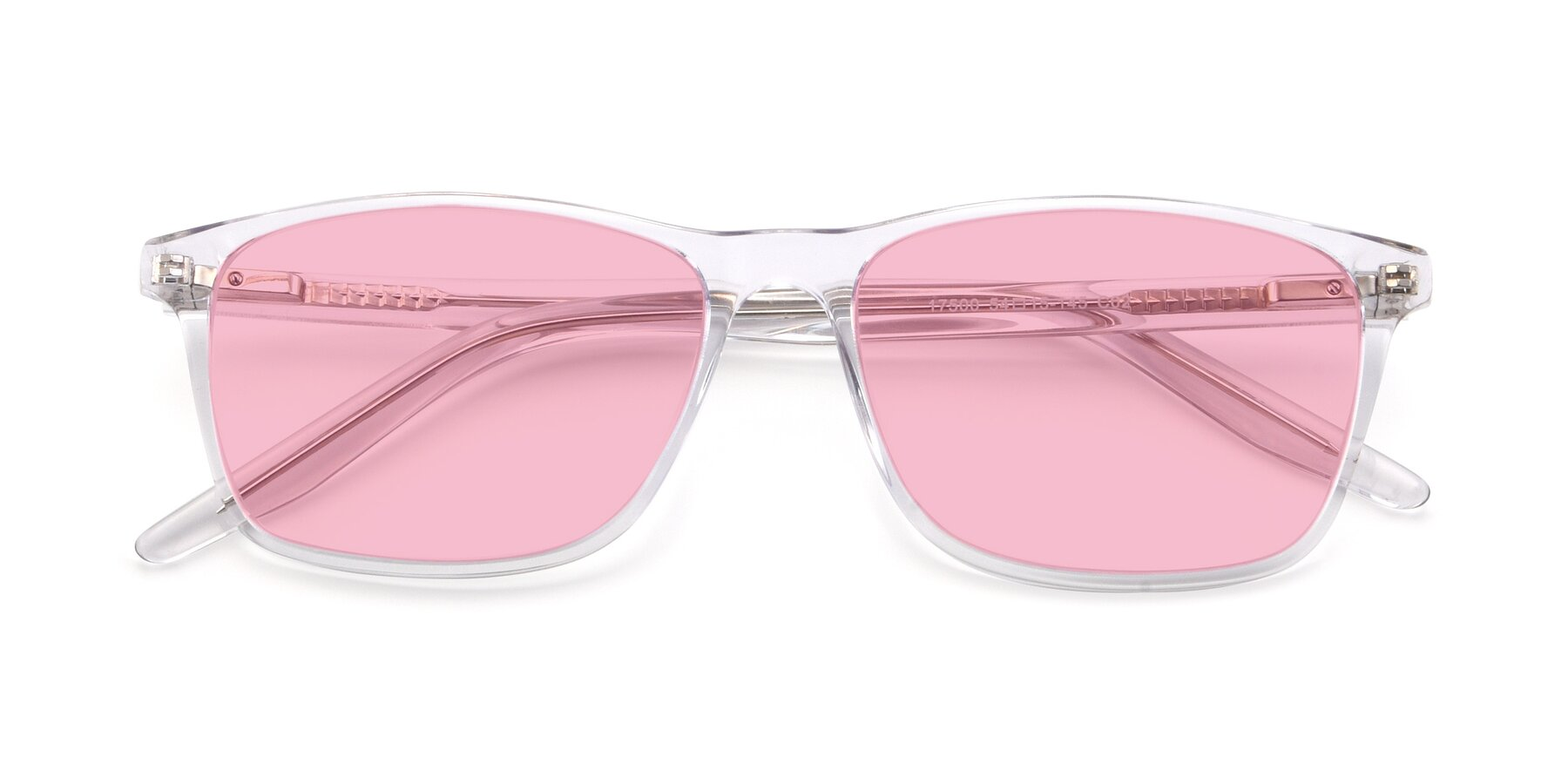 Folded Front of 17500 in Clear with Medium Pink Tinted Lenses