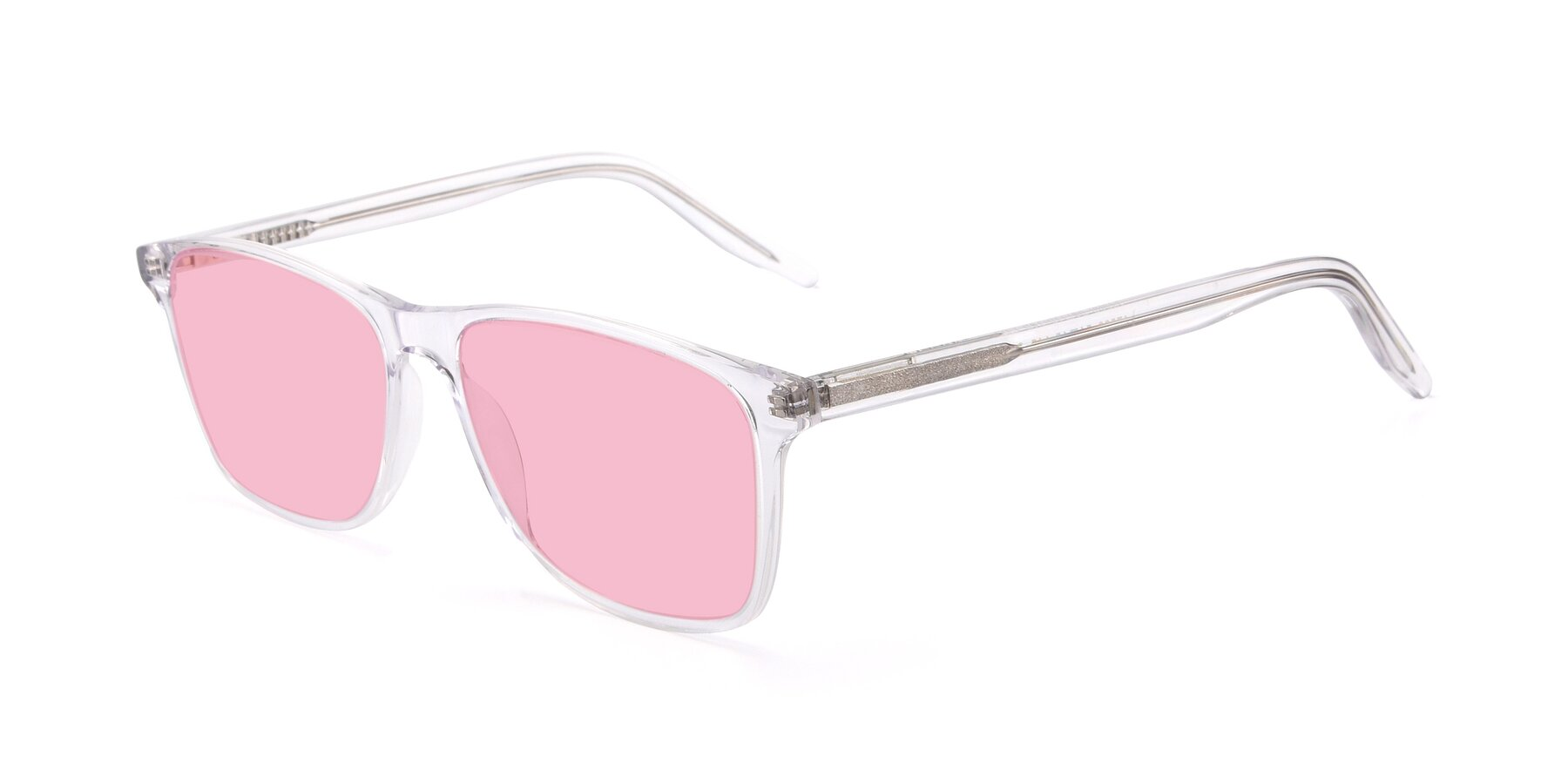 Angle of 17500 in Clear with Medium Pink Tinted Lenses