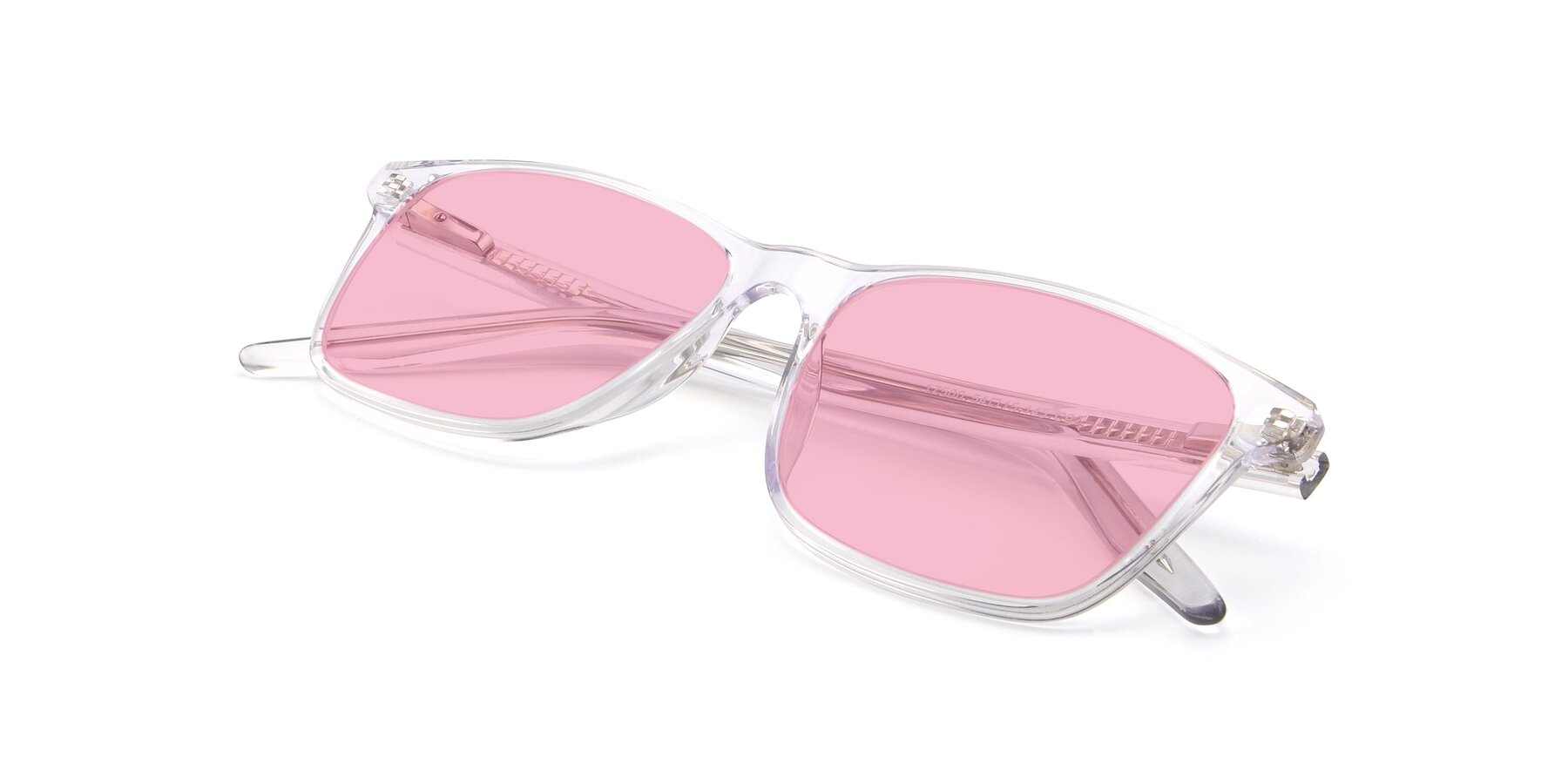 View of 17500 in Clear with Medium Pink Tinted Lenses