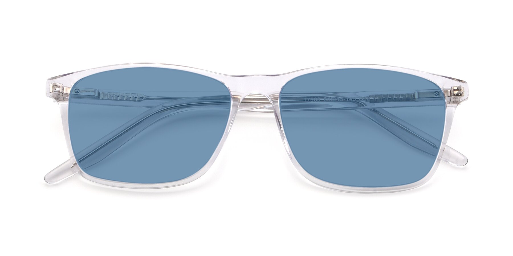 Folded Front of 17500 in Clear with Medium Blue Tinted Lenses