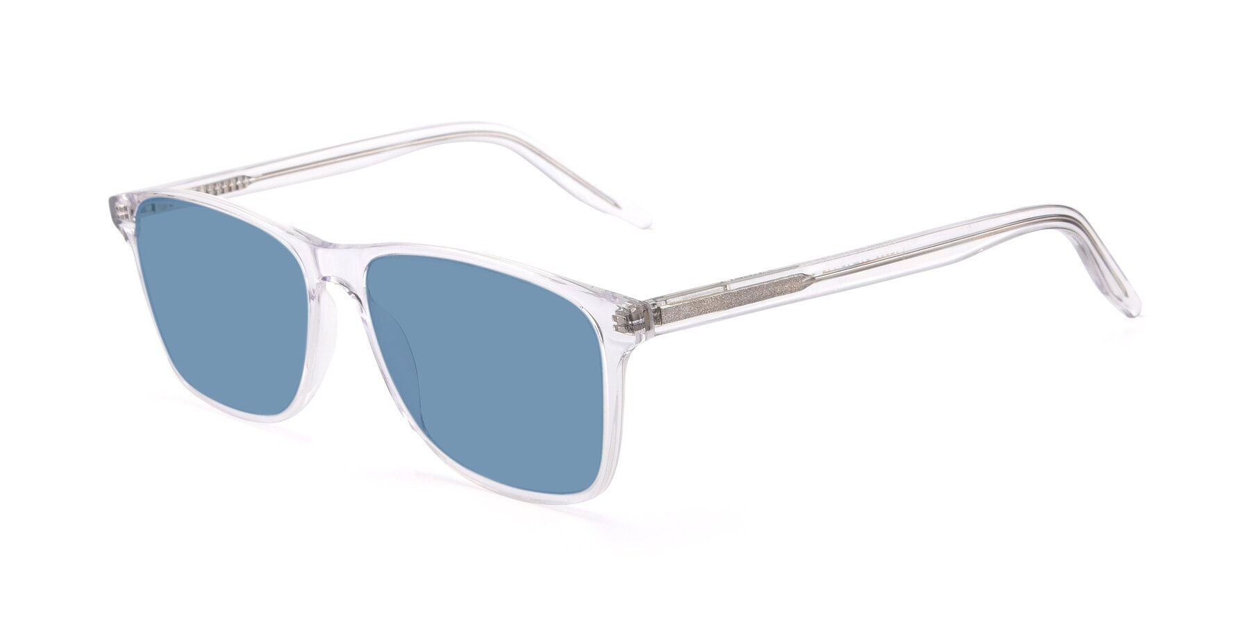 Angle of 17500 in Clear with Medium Blue Tinted Lenses