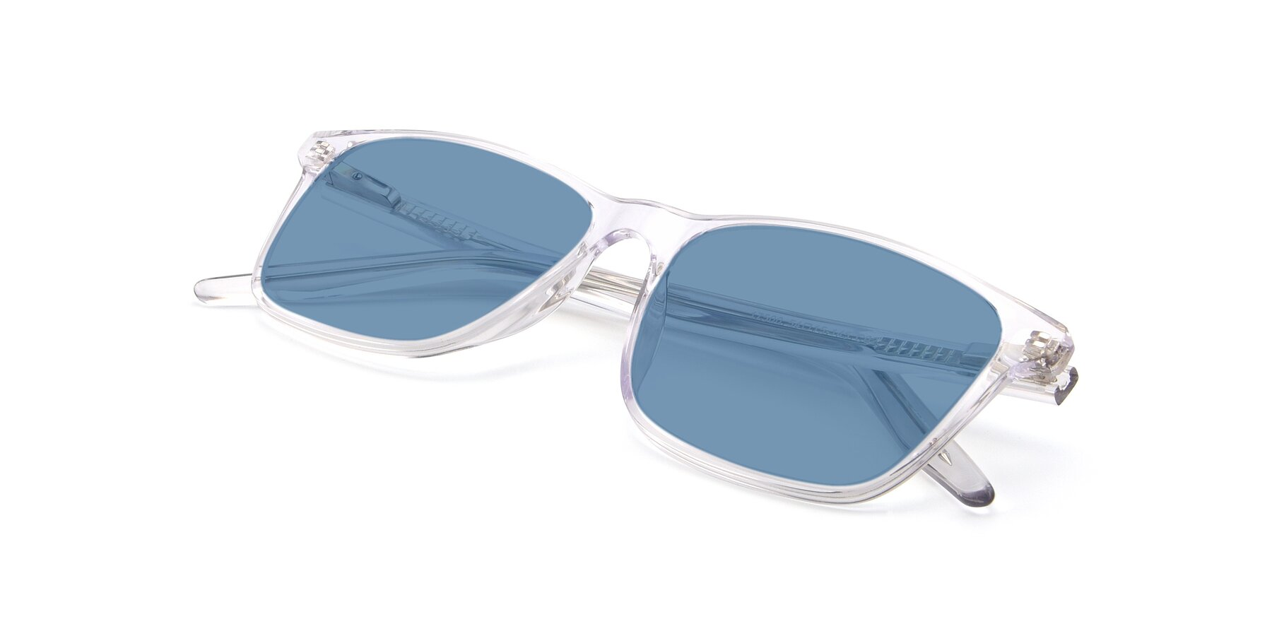 View of 17500 in Clear with Medium Blue Tinted Lenses