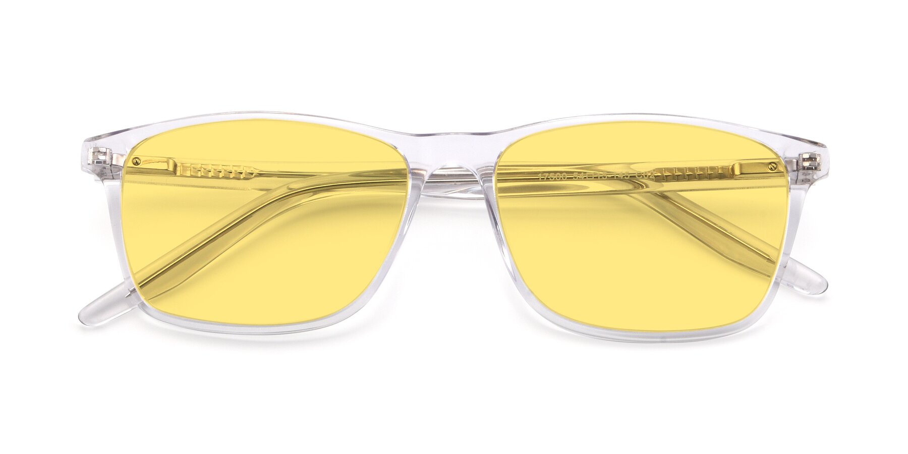 Folded Front of 17500 in Clear with Medium Yellow Tinted Lenses