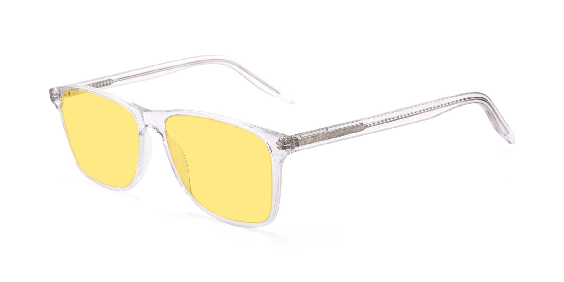 Angle of 17500 in Clear with Medium Yellow Tinted Lenses