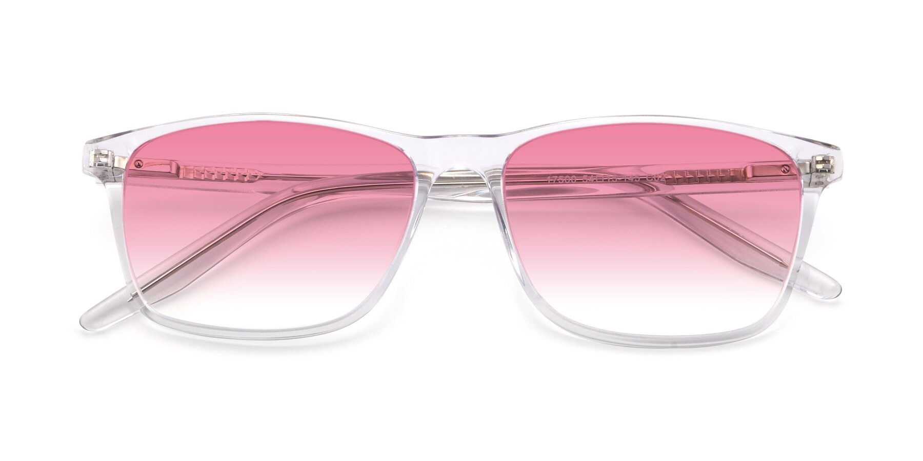 Folded Front of 17500 in Clear with Pink Gradient Lenses