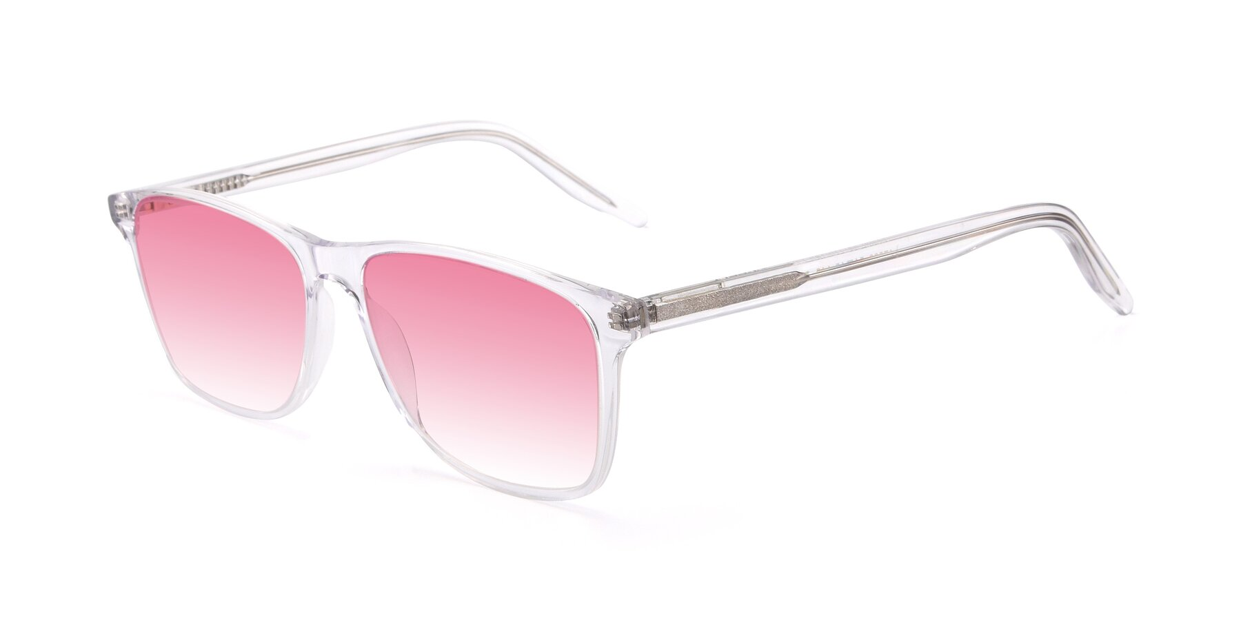 Angle of 17500 in Clear with Pink Gradient Lenses