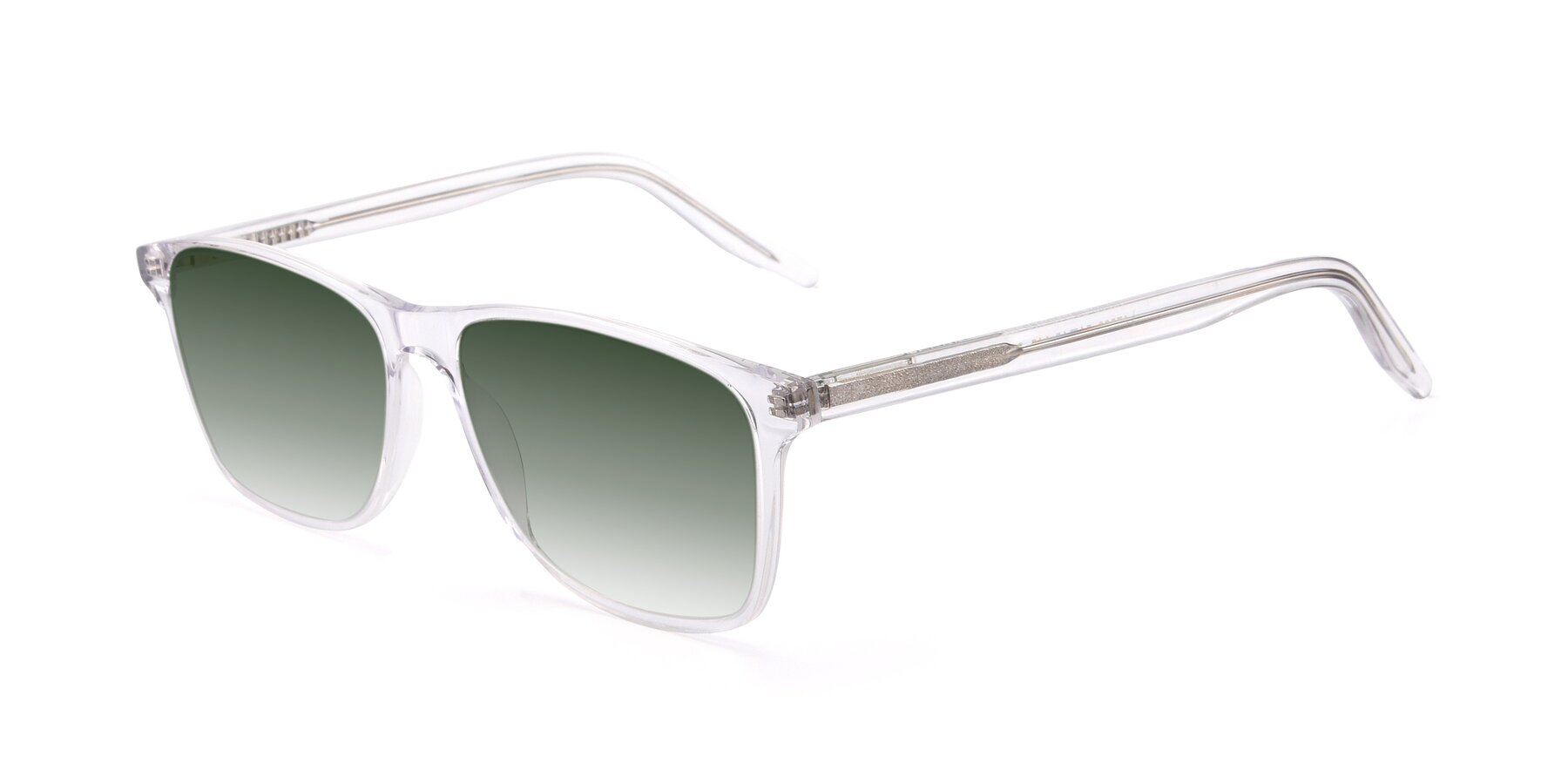 Angle of 17500 in Clear with Green Gradient Lenses