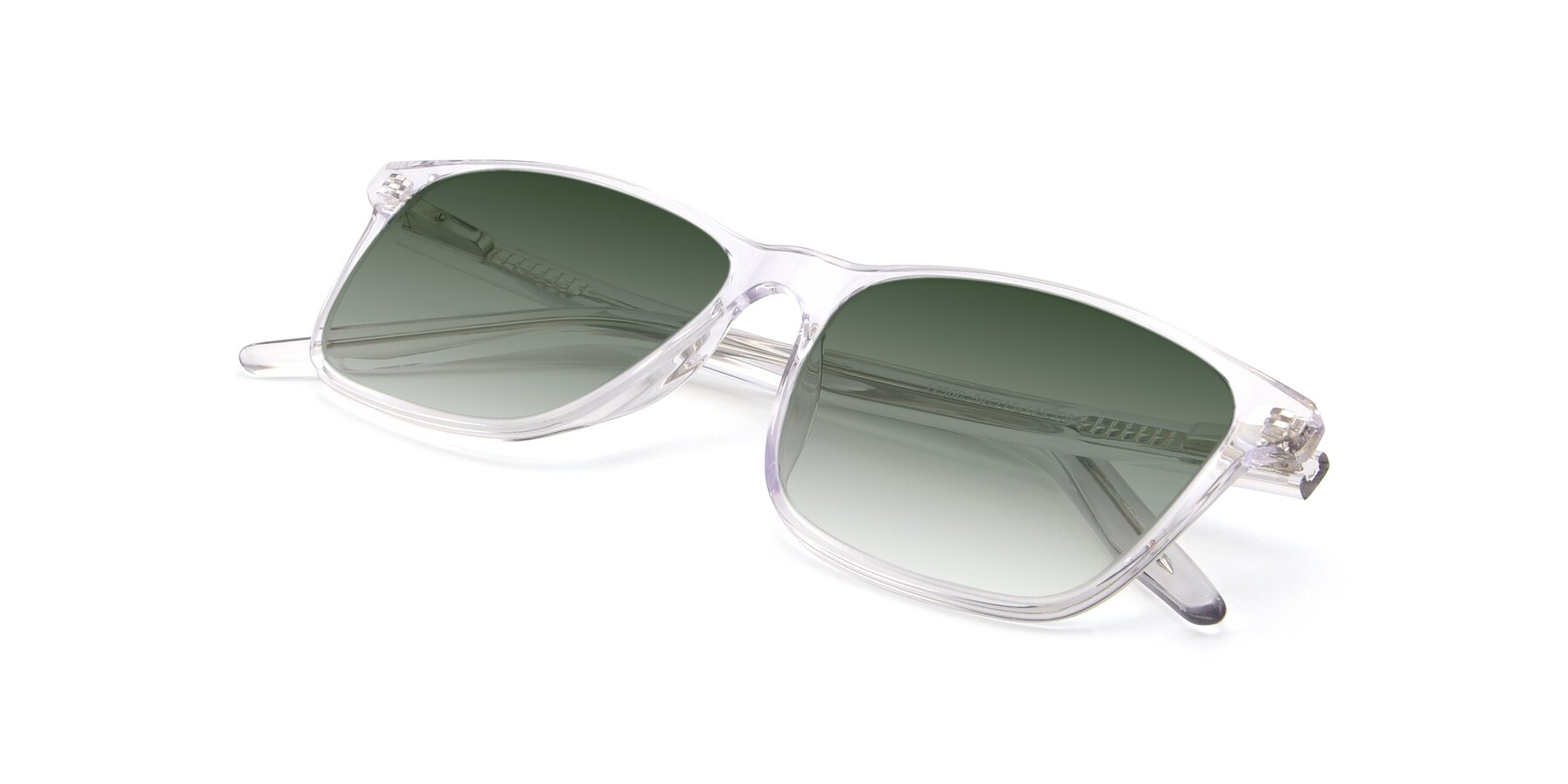 View of 17500 in Clear with Green Gradient Lenses