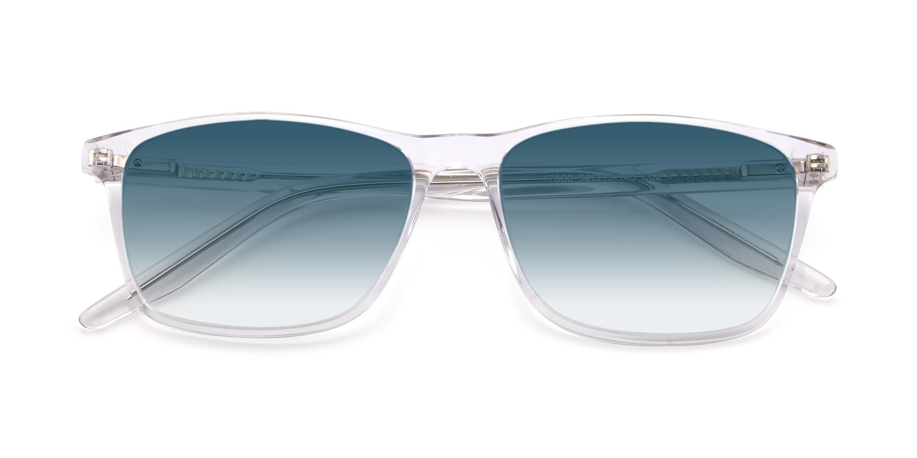 Folded Front of 17500 in Clear with Blue Gradient Lenses