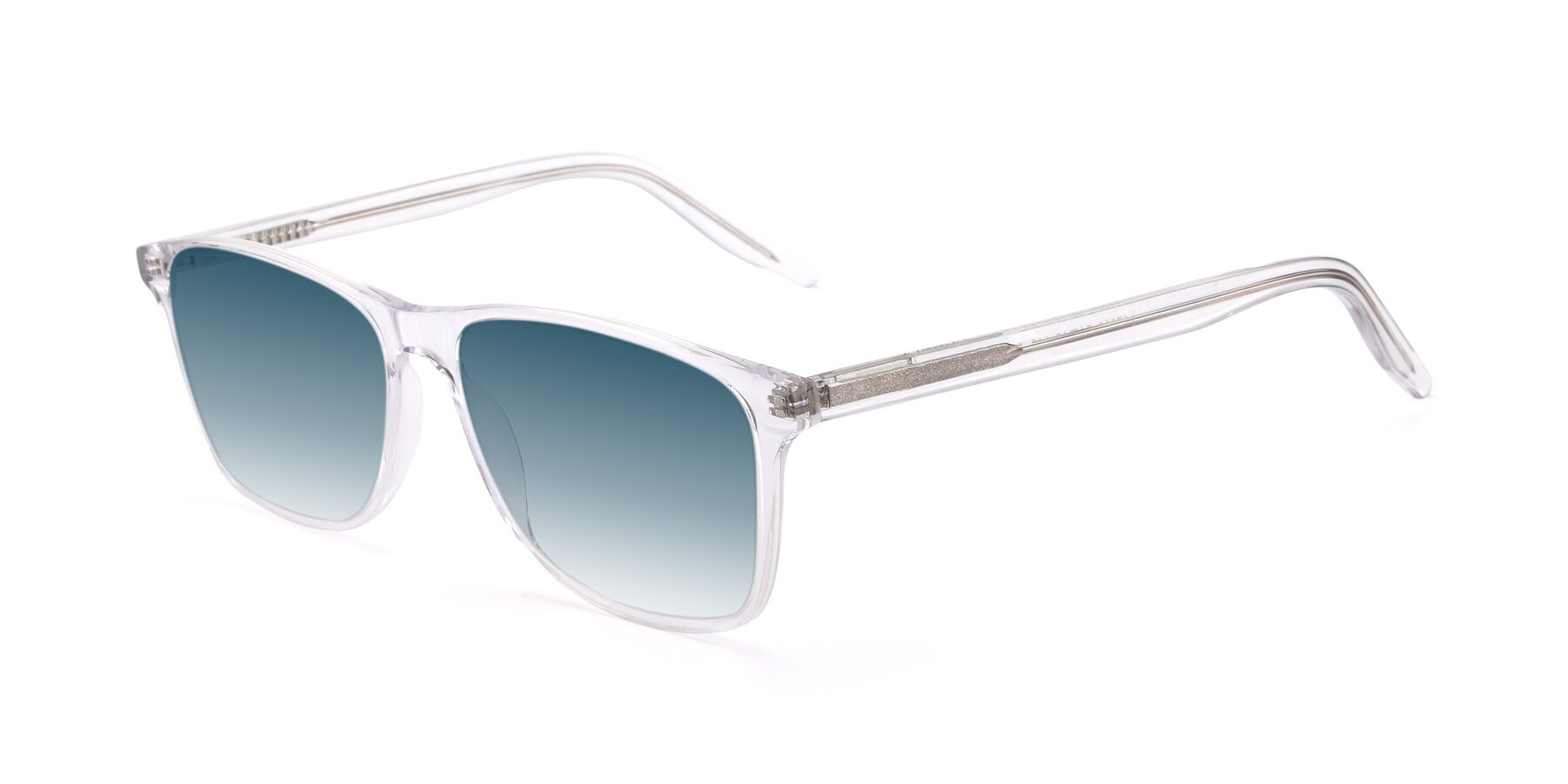 Angle of 17500 in Clear with Blue Gradient Lenses