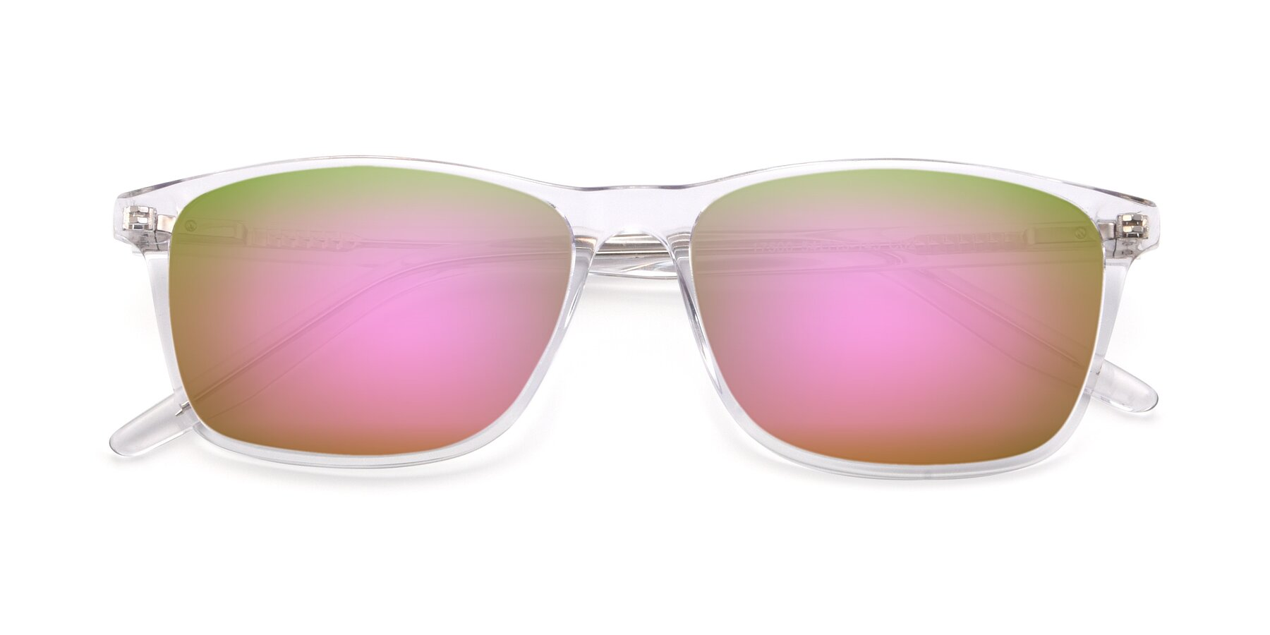 Folded Front of 17500 in Clear with Pink Mirrored Lenses