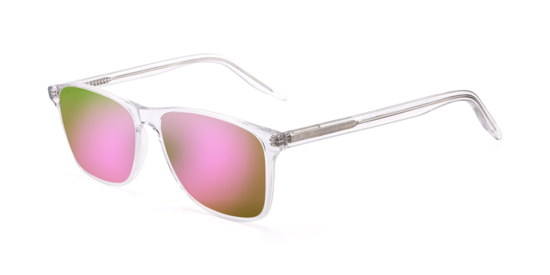 Angle of 17500 in Clear with Pink Mirrored Lenses