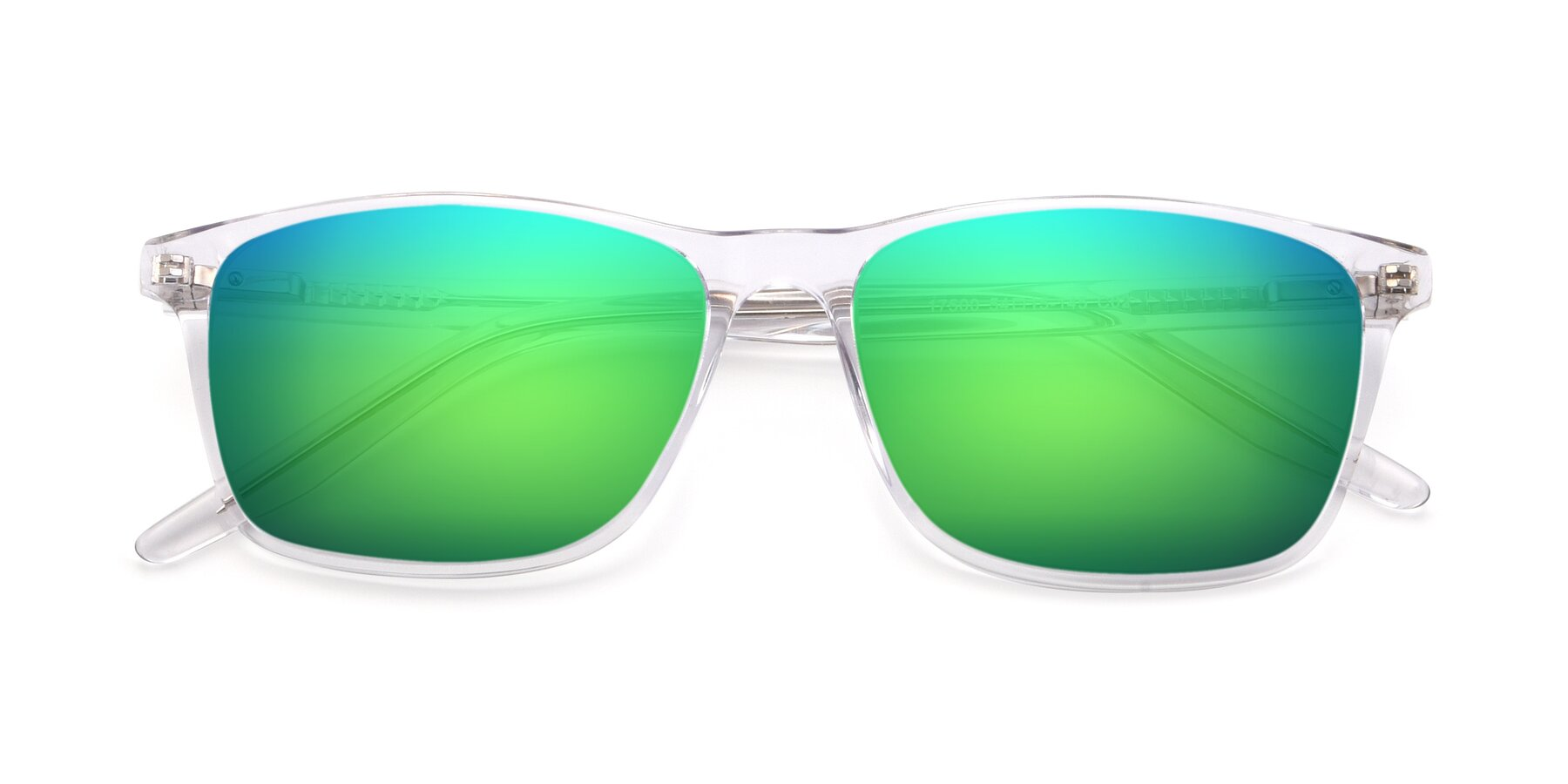 Folded Front of 17500 in Clear with Green Mirrored Lenses